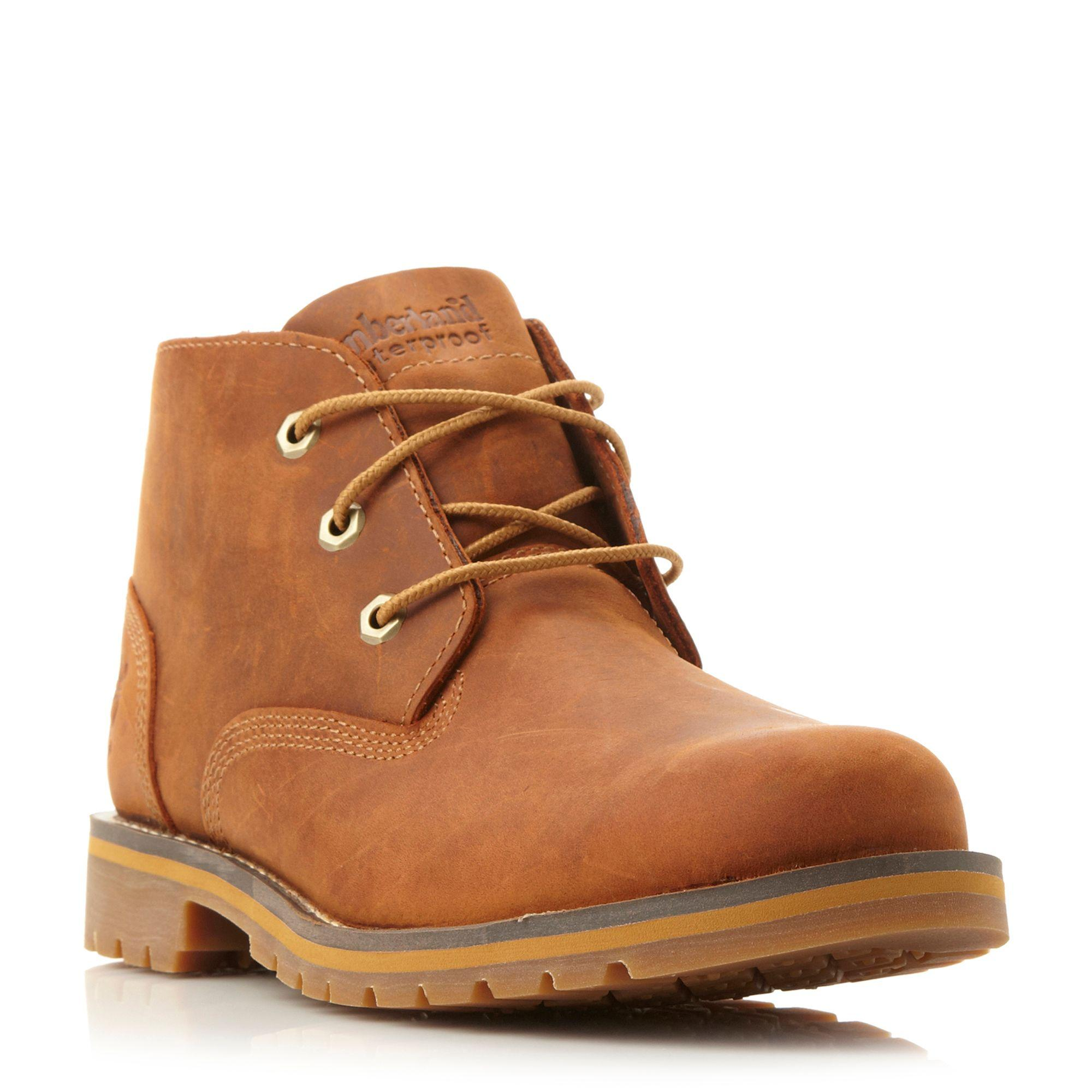 men's chukka boots Timberland® men's chukkas have become some of our most popular footwear. Try a pair of our men's chukka boots for the ultimate smooth ride and a modern look that blends athletic styling with heritage details.