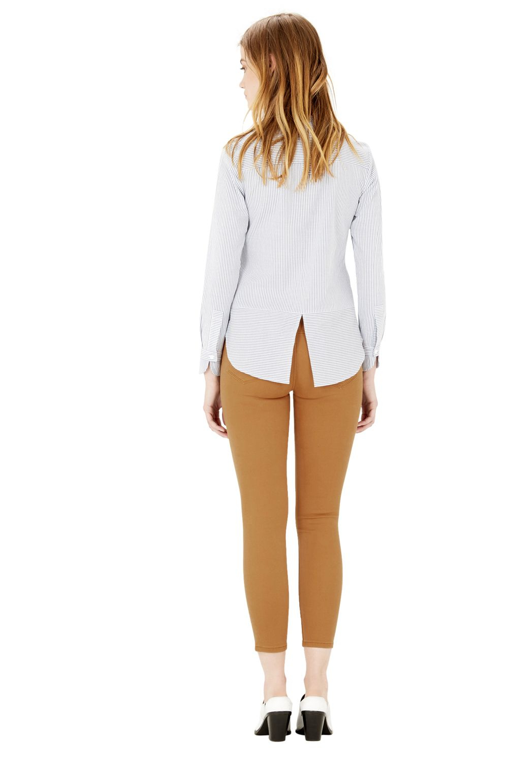 Lyst - Warehouse Cropped Signature Skinny Jeans in Brown