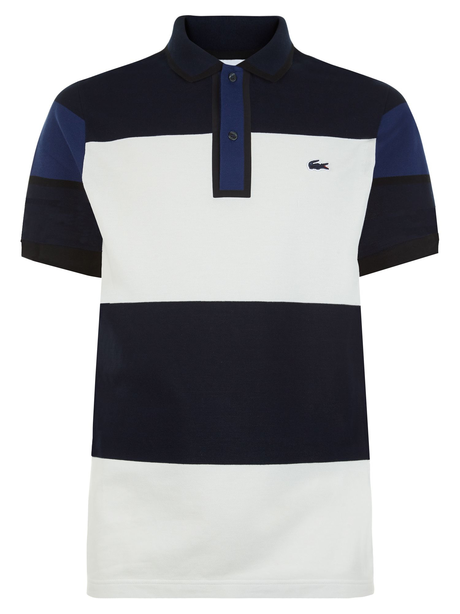 lacoste made in france striped piqu polo for men lyst. Black Bedroom Furniture Sets. Home Design Ideas