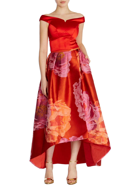 Lyst Coast Ameliana Jacquard Skirt In Pink