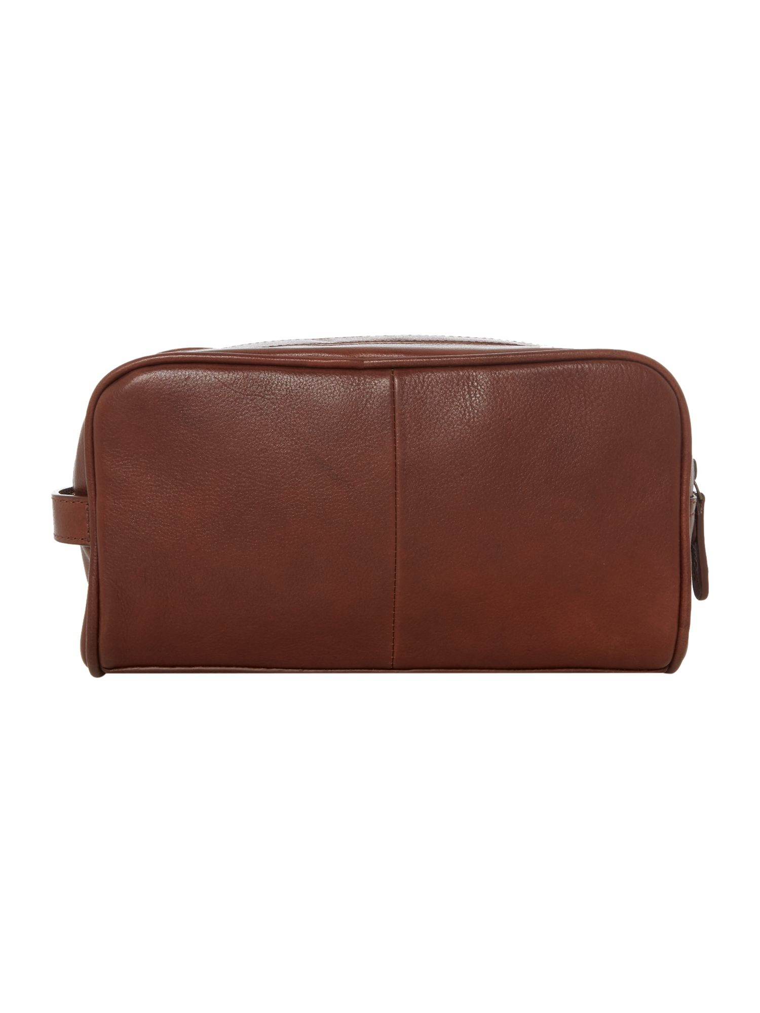 Howick classic leather double zip in brown lyst for Quality classic house of fraser