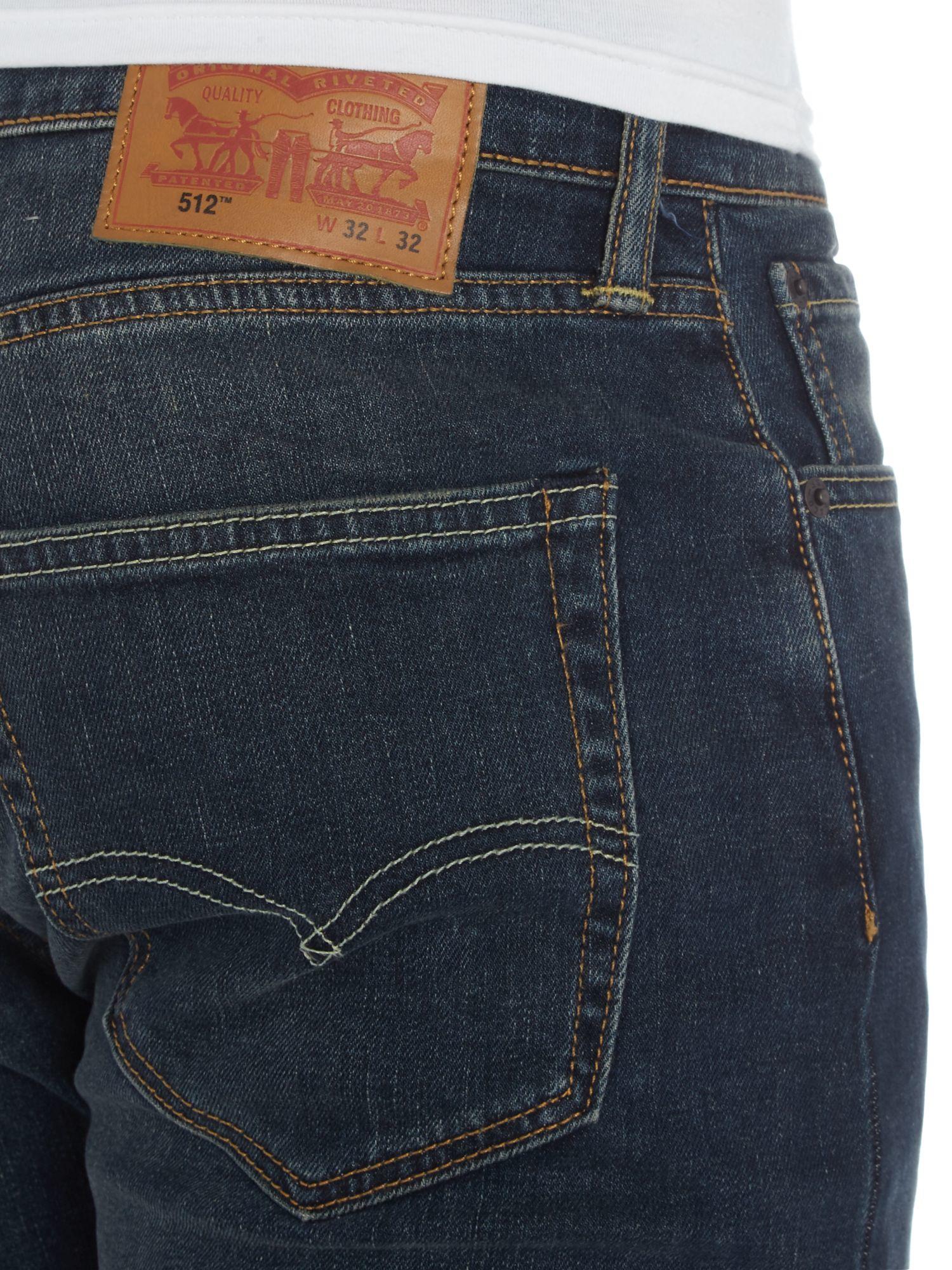 levi 39 s 512 captain patrick slim taper jeans in blue for. Black Bedroom Furniture Sets. Home Design Ideas