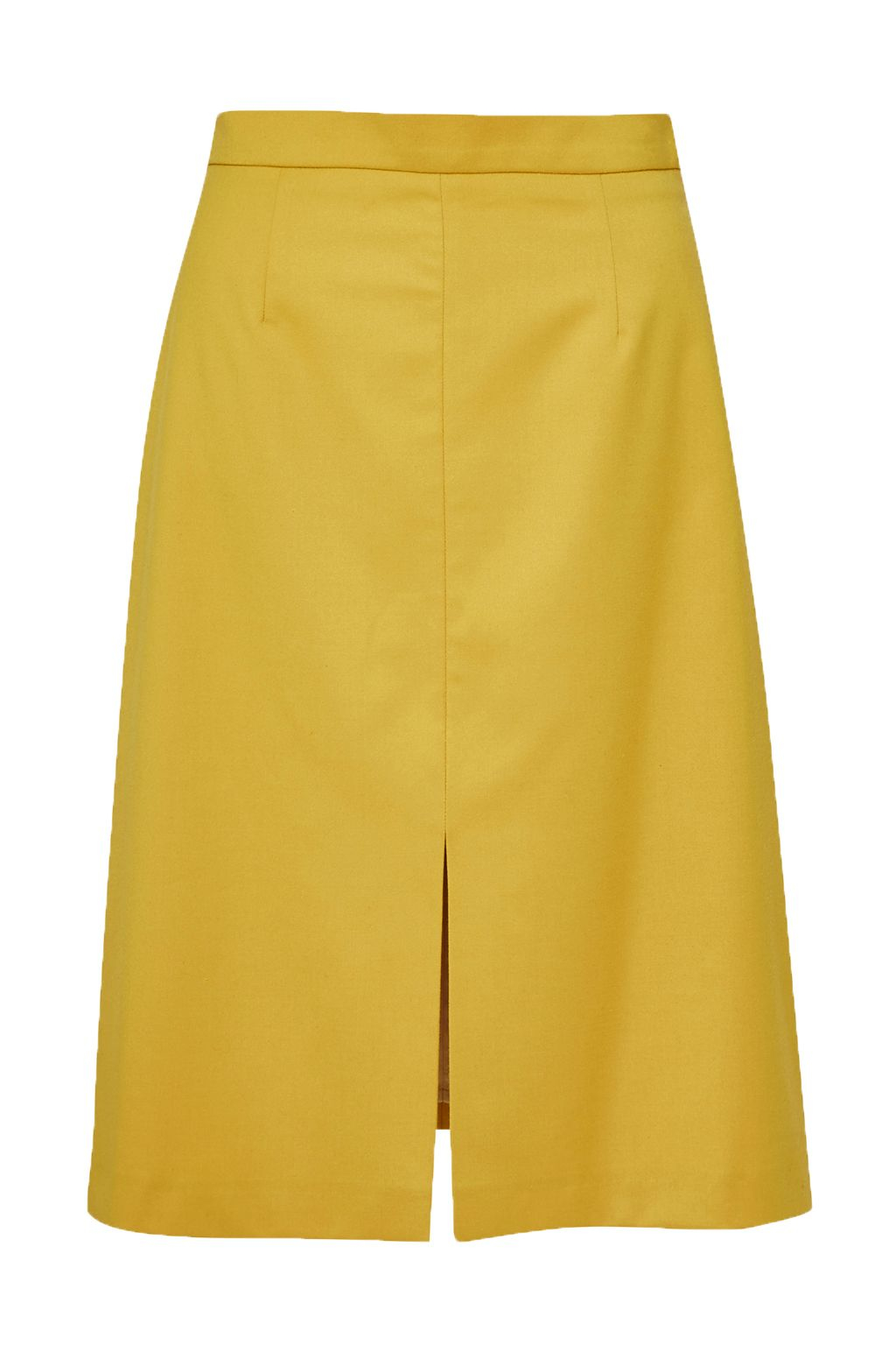 great plains suiting a line skirt in yellow lyst