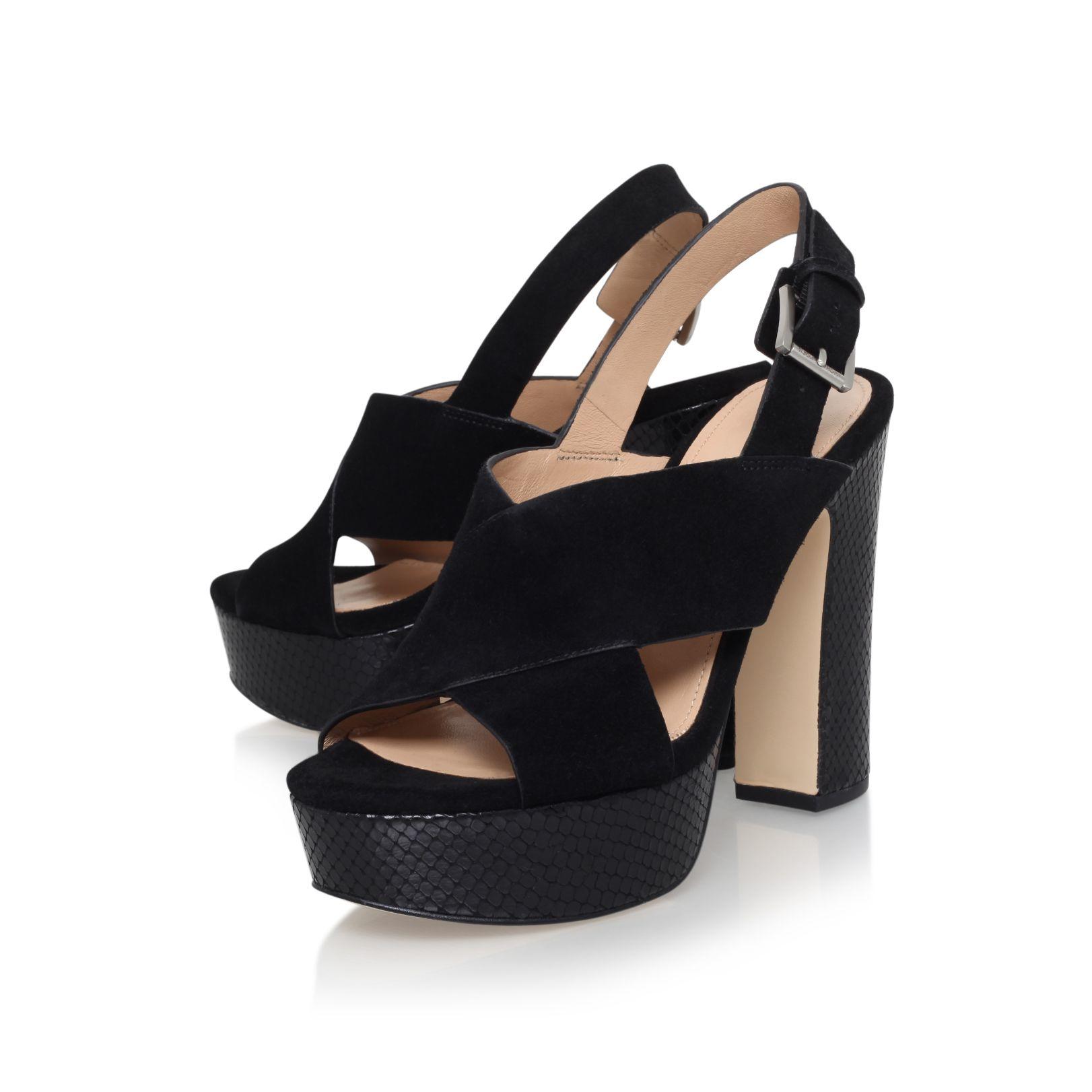 Michael Kors Mariana High Heel Slingback Sandals In Black