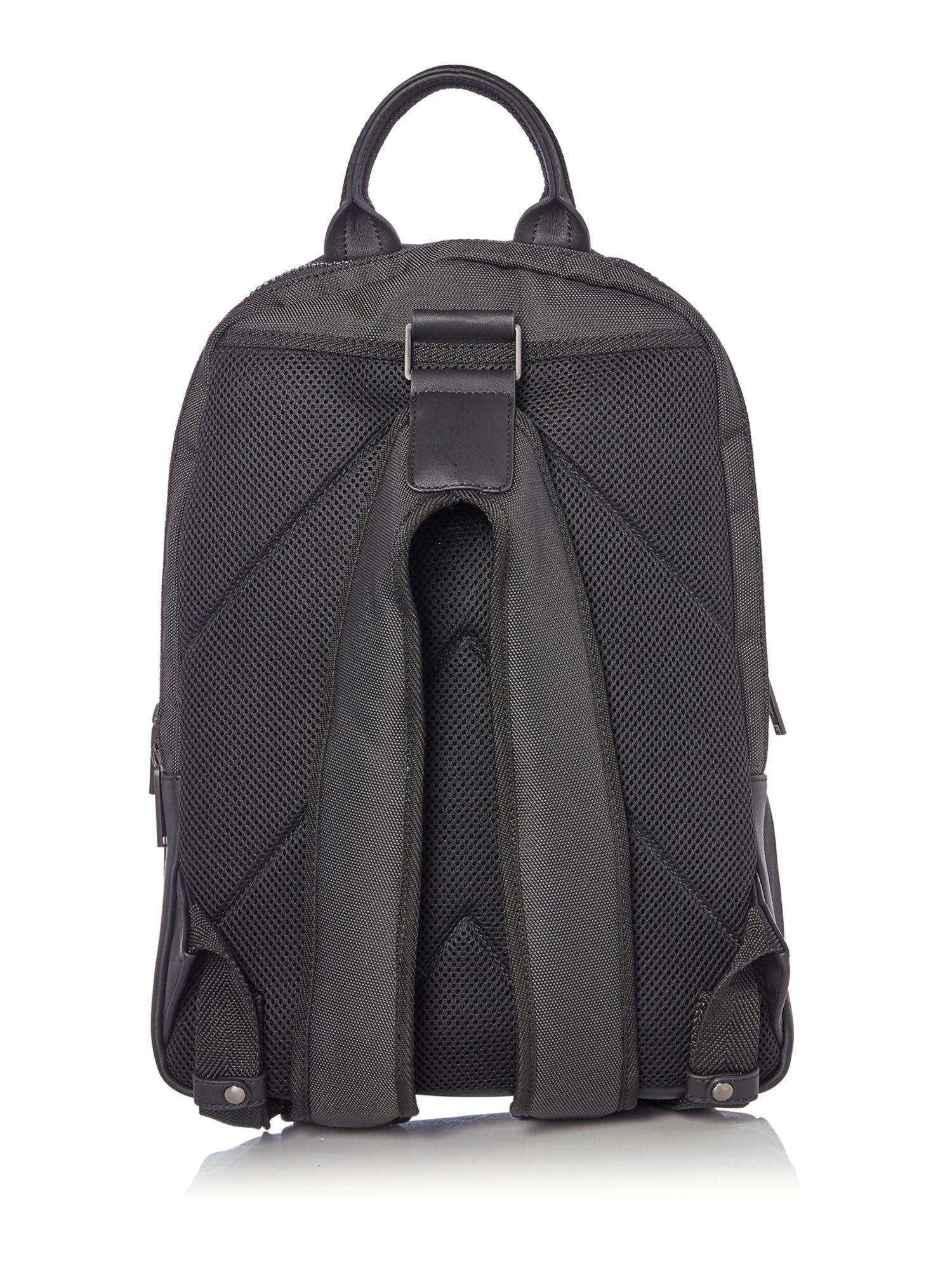 calvin klein zone nylon backpack in black for men lyst. Black Bedroom Furniture Sets. Home Design Ideas