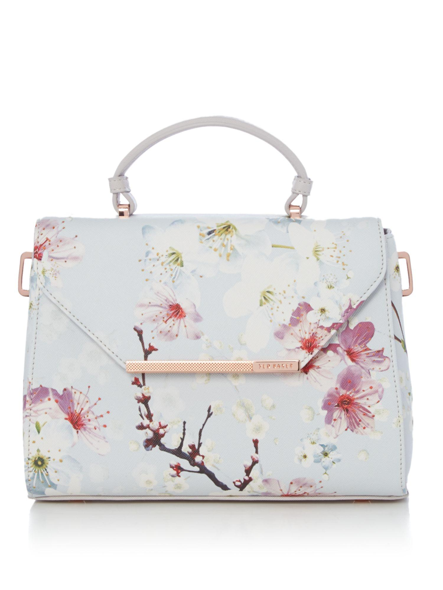 Lyst - Ted Baker Harmon Large Floral Crosshatch Tote Bag In Gray