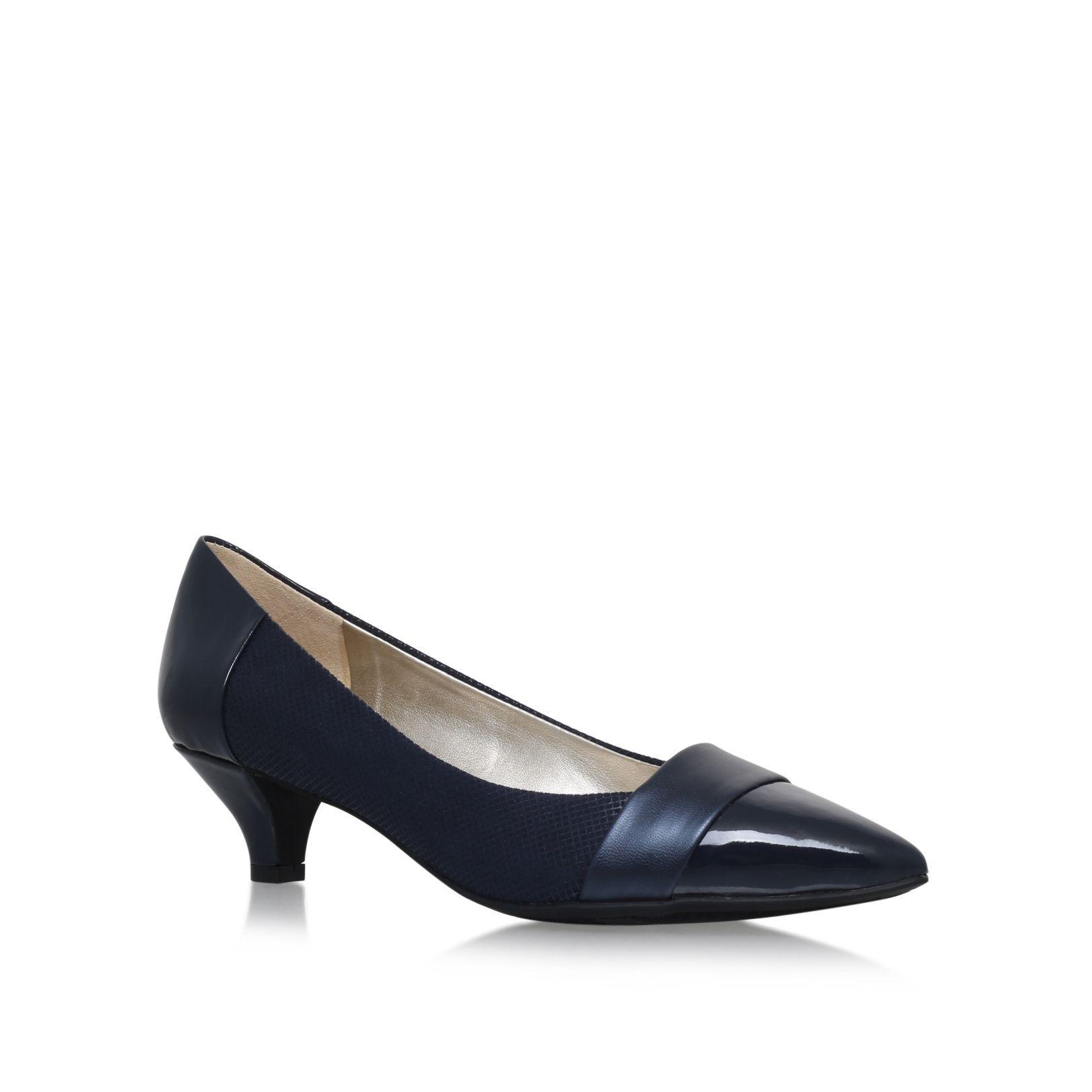 Navy Kitten Heel Shoes