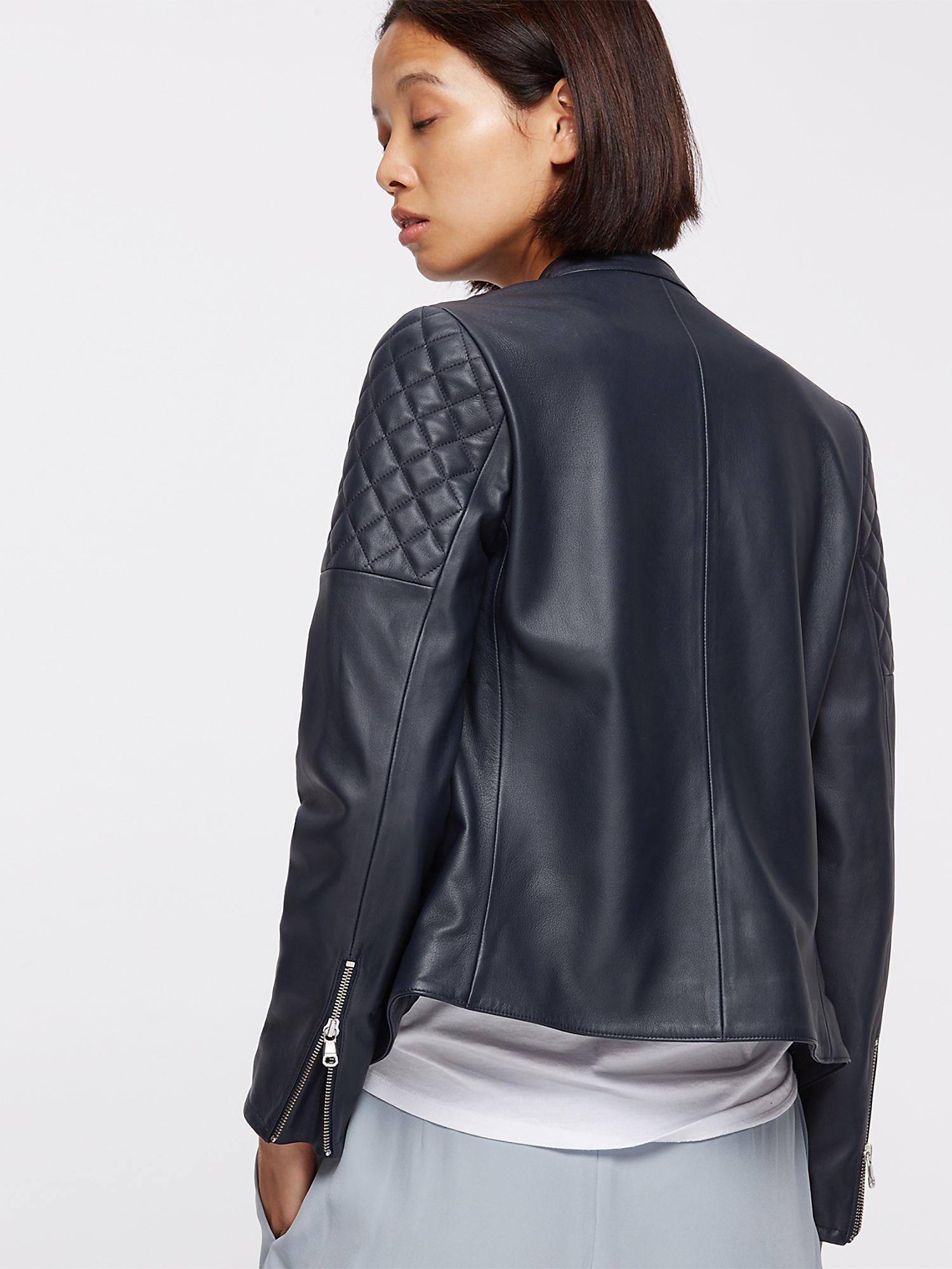 Leather jacket jigsaw - Jigsaw Multicolor Napa Leather Biker Jacket Lyst View Fullscreen