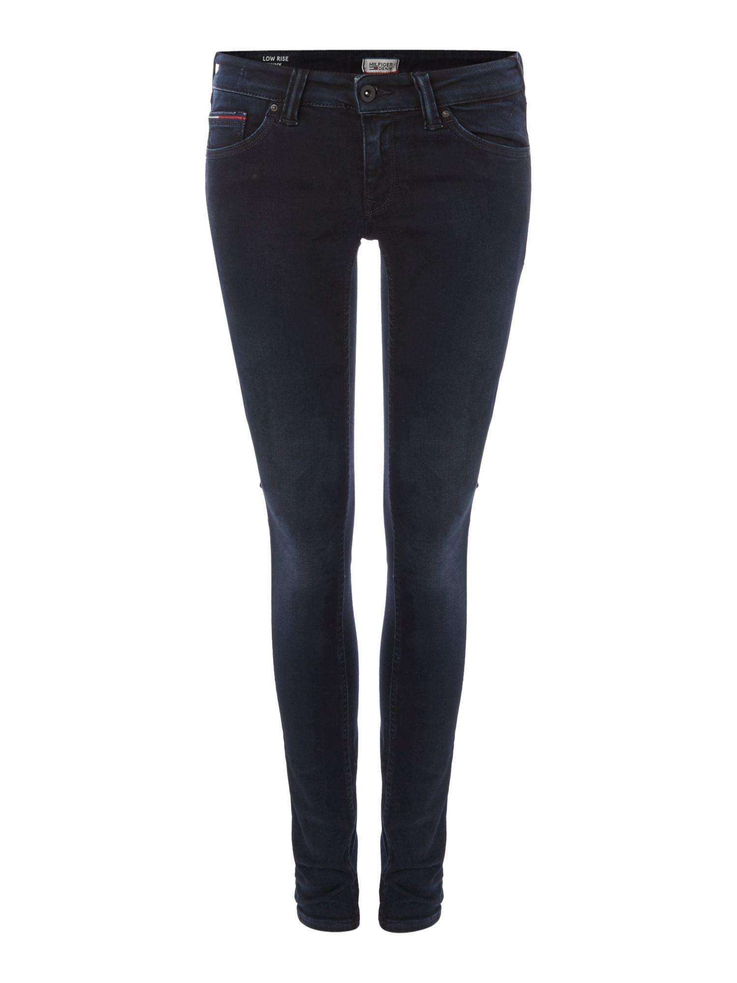 tommy hilfiger low rise skinny sophie dybbk jeans in black. Black Bedroom Furniture Sets. Home Design Ideas