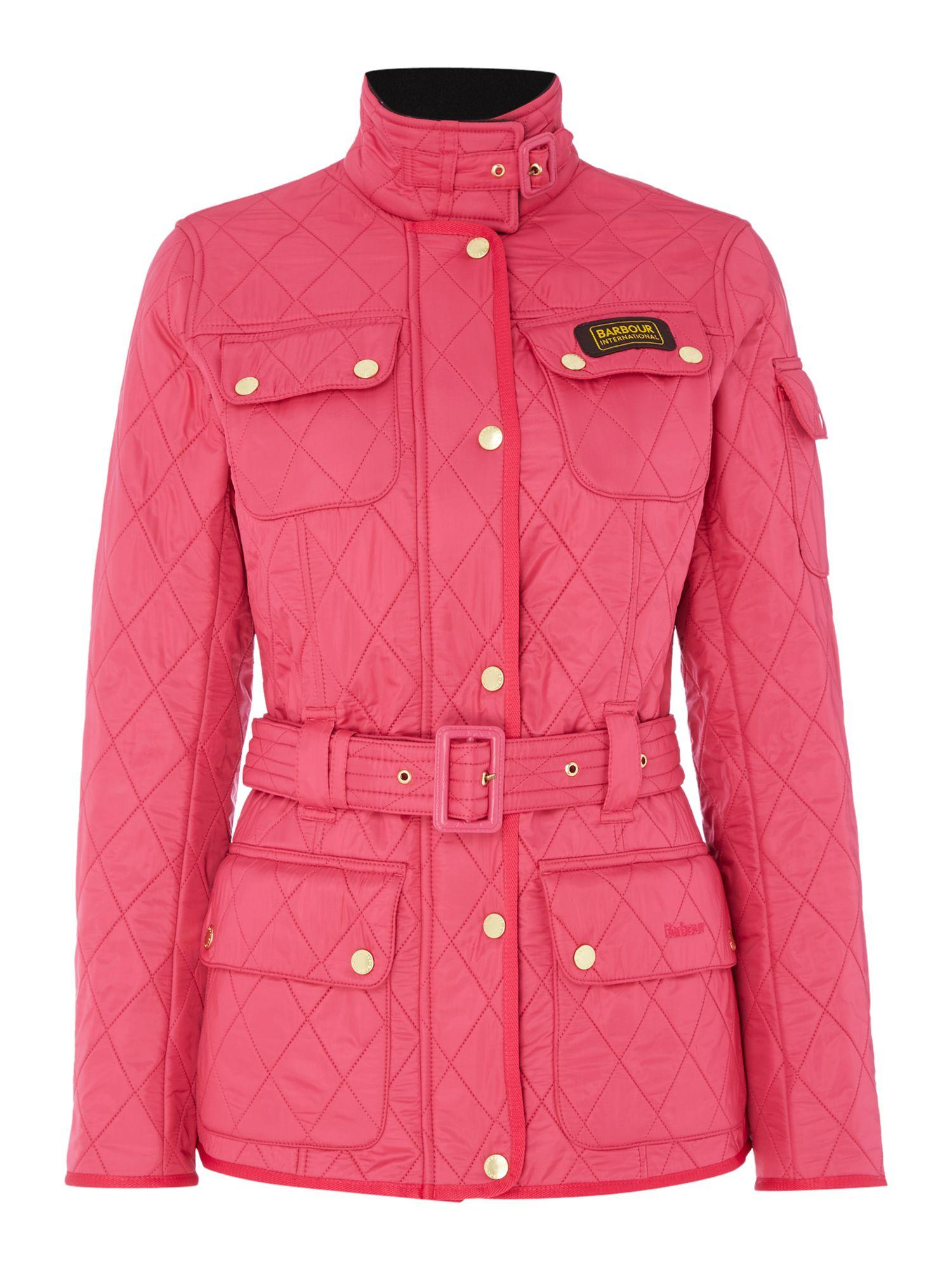 Red womens barbour jacket