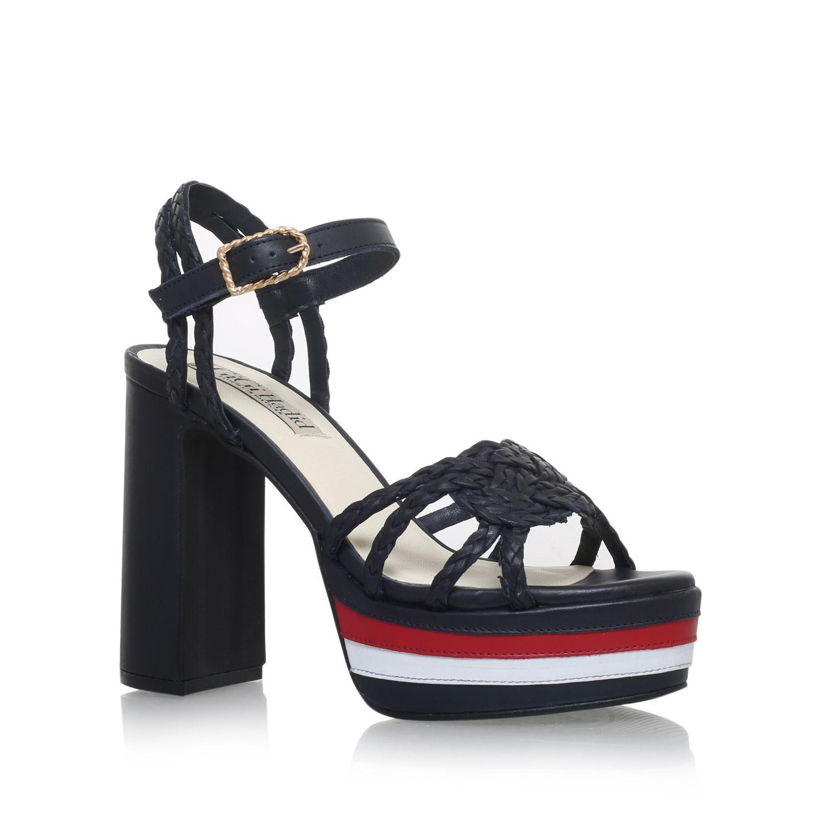 tommy hilfiger gigi rope high heel sandals in blue lyst. Black Bedroom Furniture Sets. Home Design Ideas