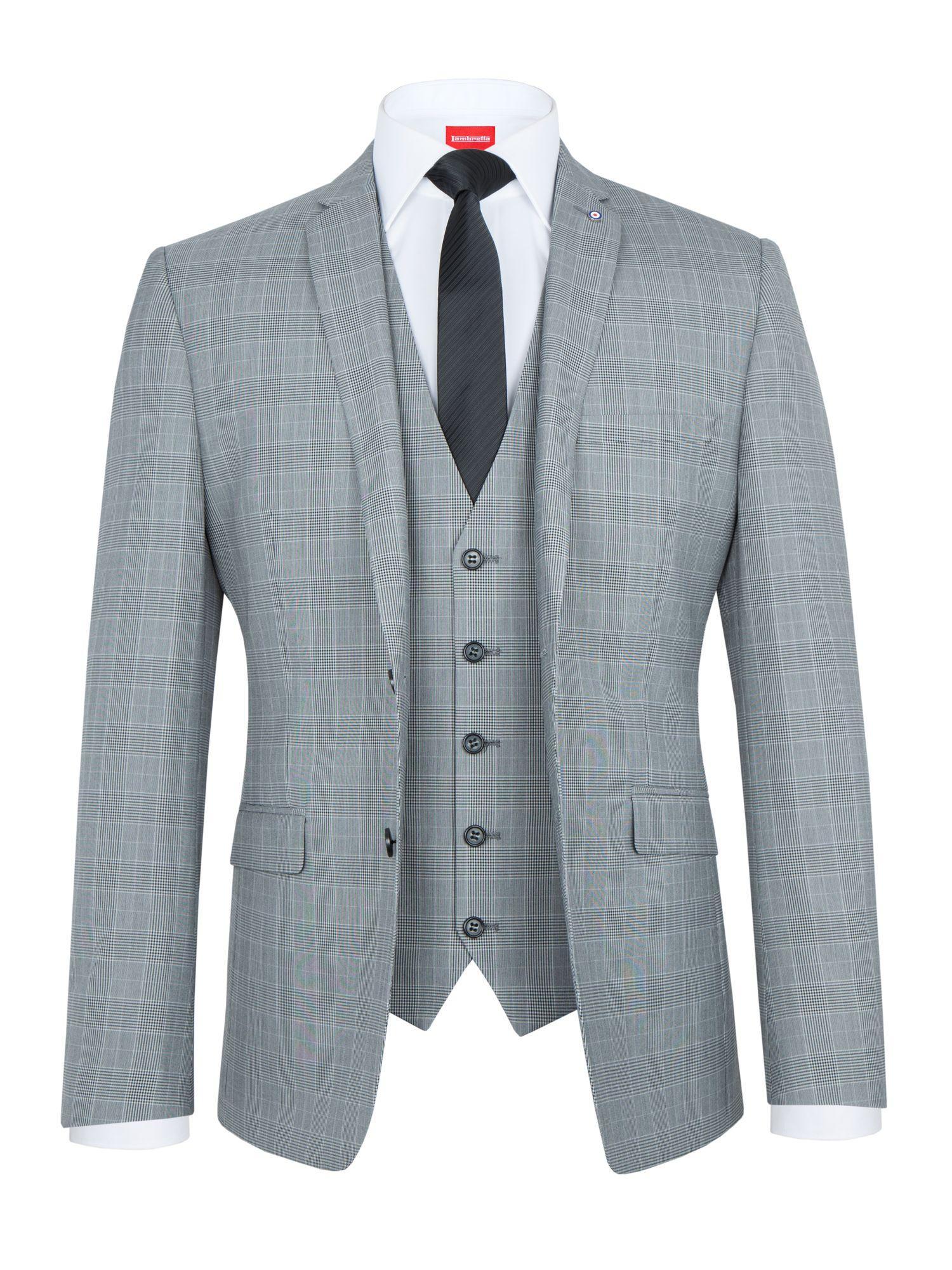 Brown Suit Grey Shoes