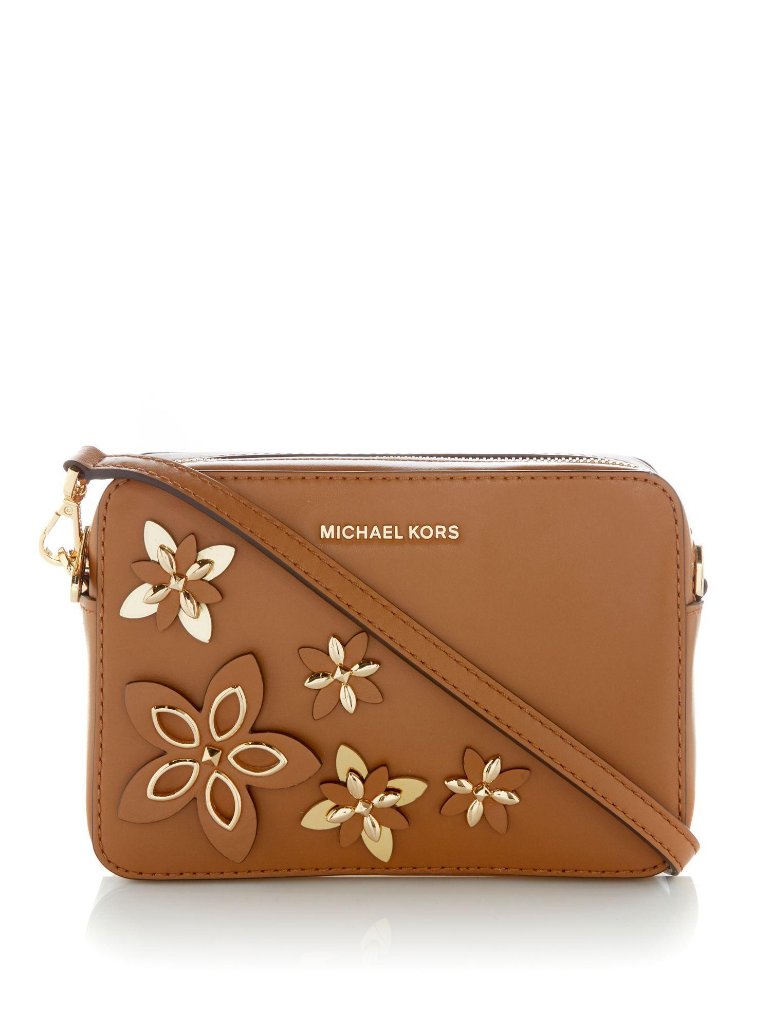 3062d7cd35d1 Michael kors Flowers Pouches Crossbody Bag in Brown