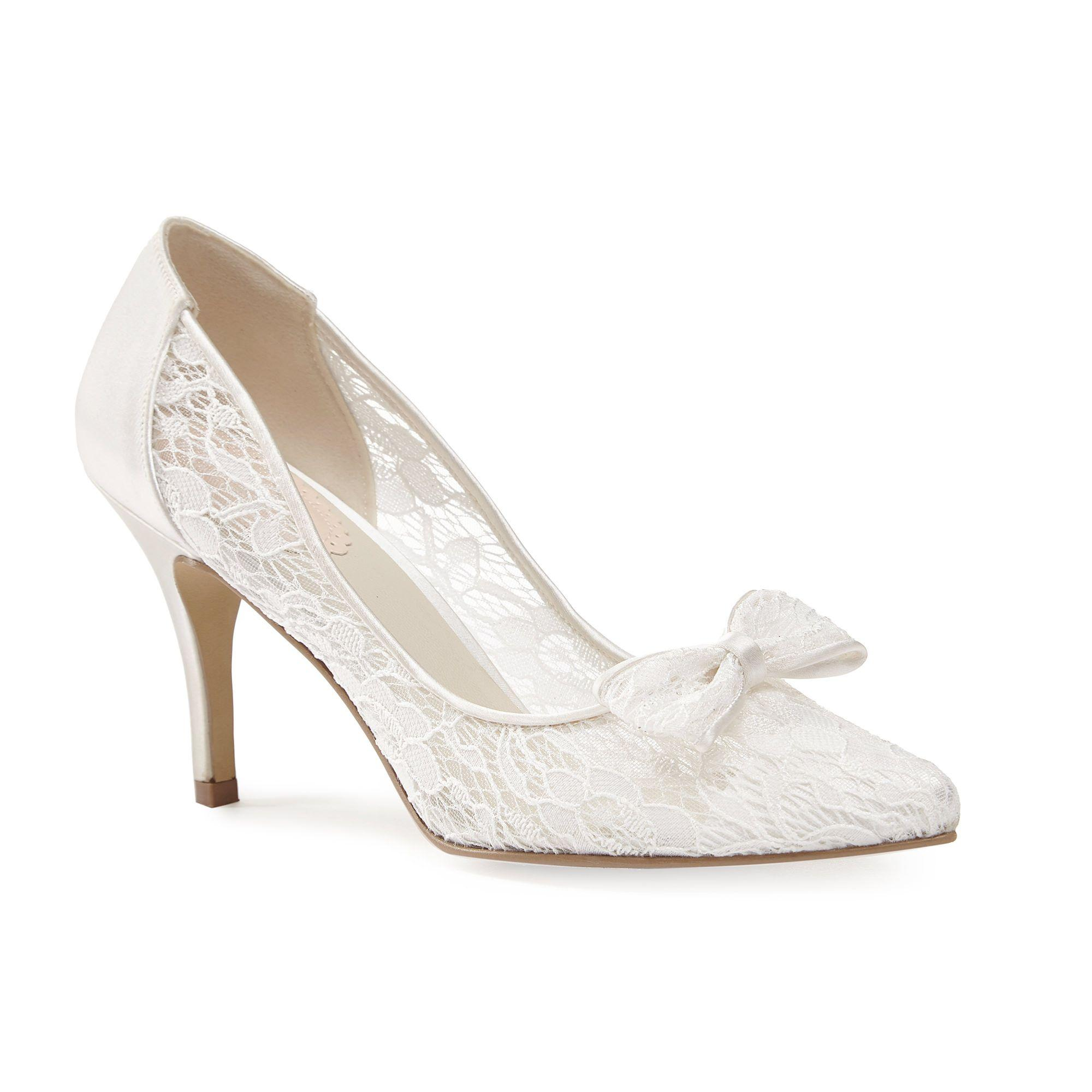 Cream Satin Court Shoes New Look