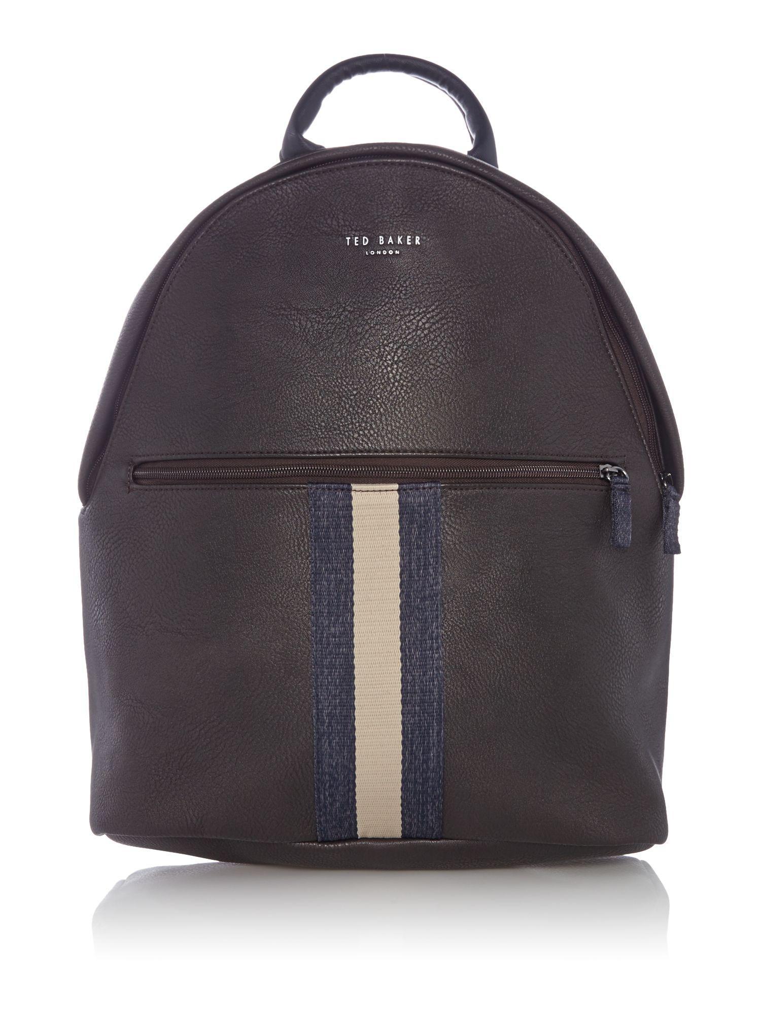 ted baker hawkz core webbing backpack in brown for men lyst. Black Bedroom Furniture Sets. Home Design Ideas