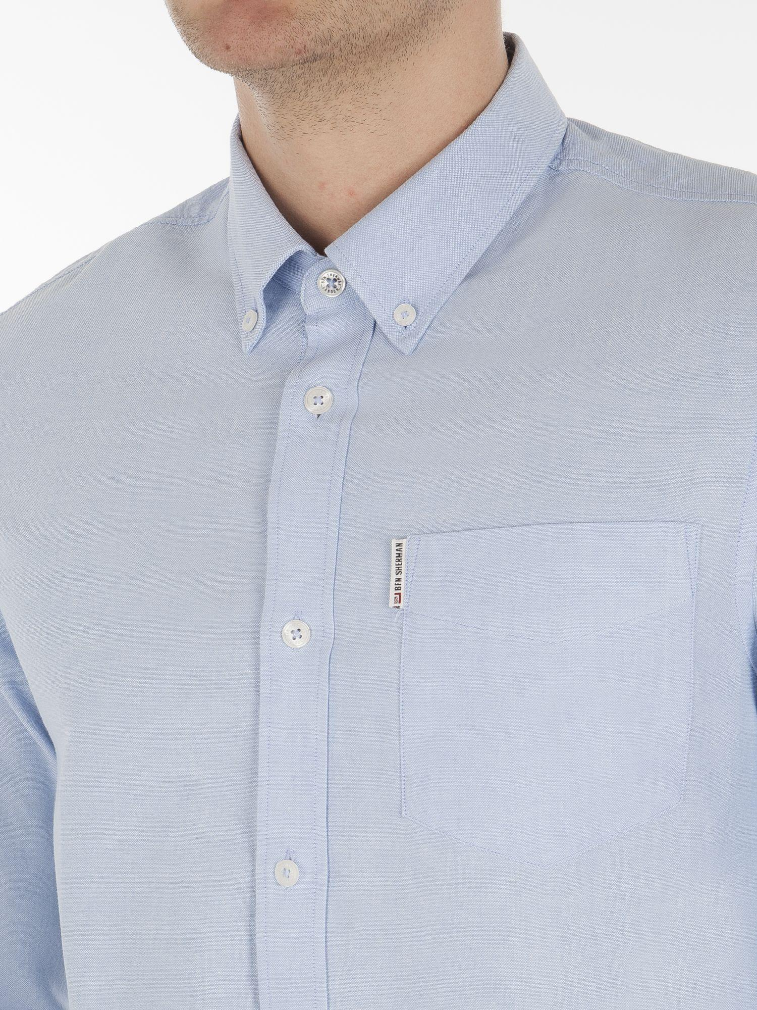 Lyst ben sherman long sleeve classic oxford in blue for men for Quality classic house of fraser