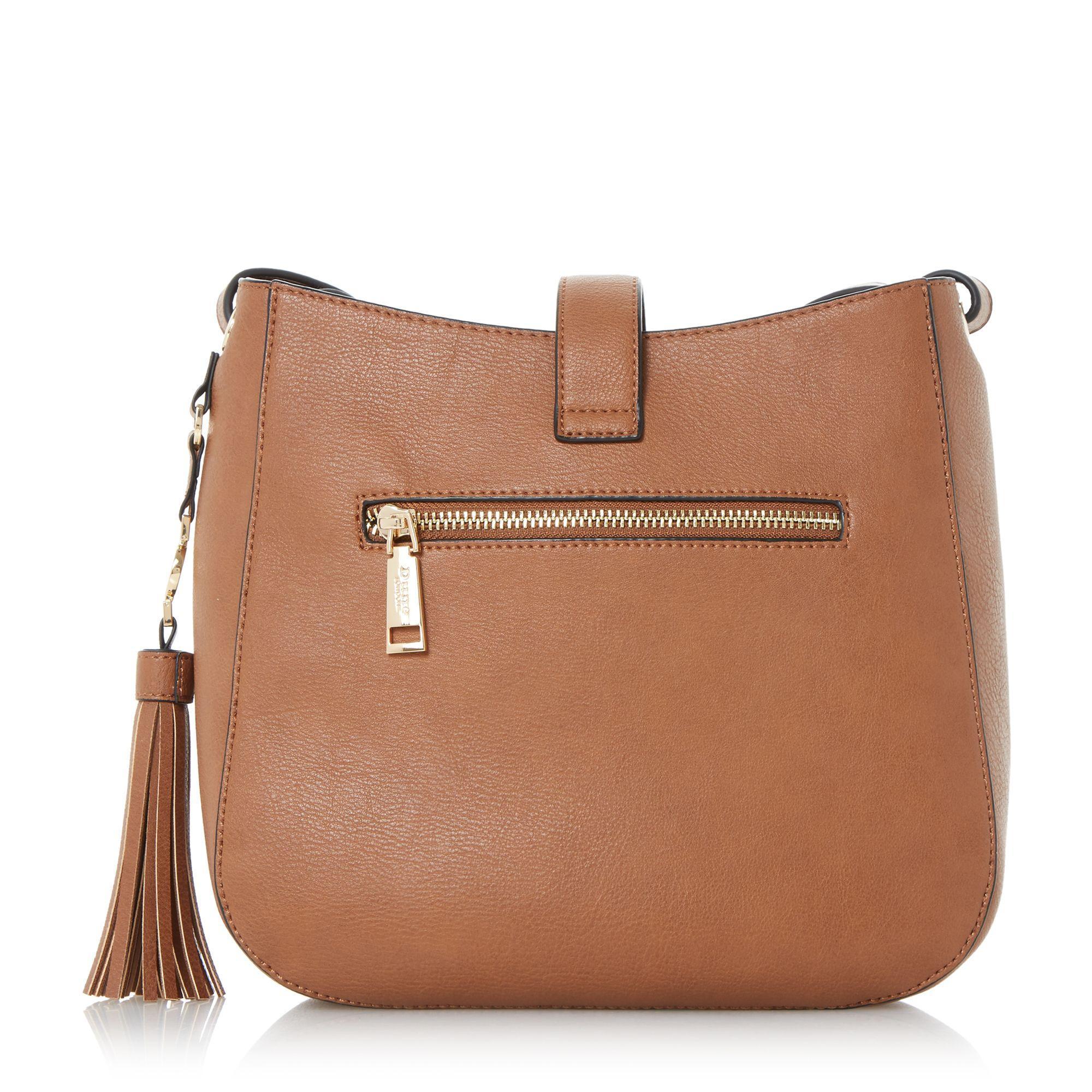 Lyst Dune Danao Medium Strap Detail Crossbody Bag In Brown