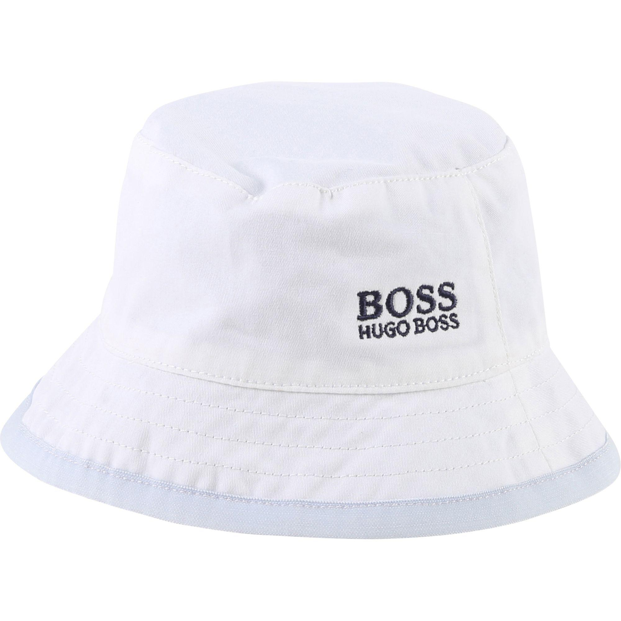 ebfd8b2c05a Boss Baby Boys Reversible Bucket Hat in White for Men - Lyst