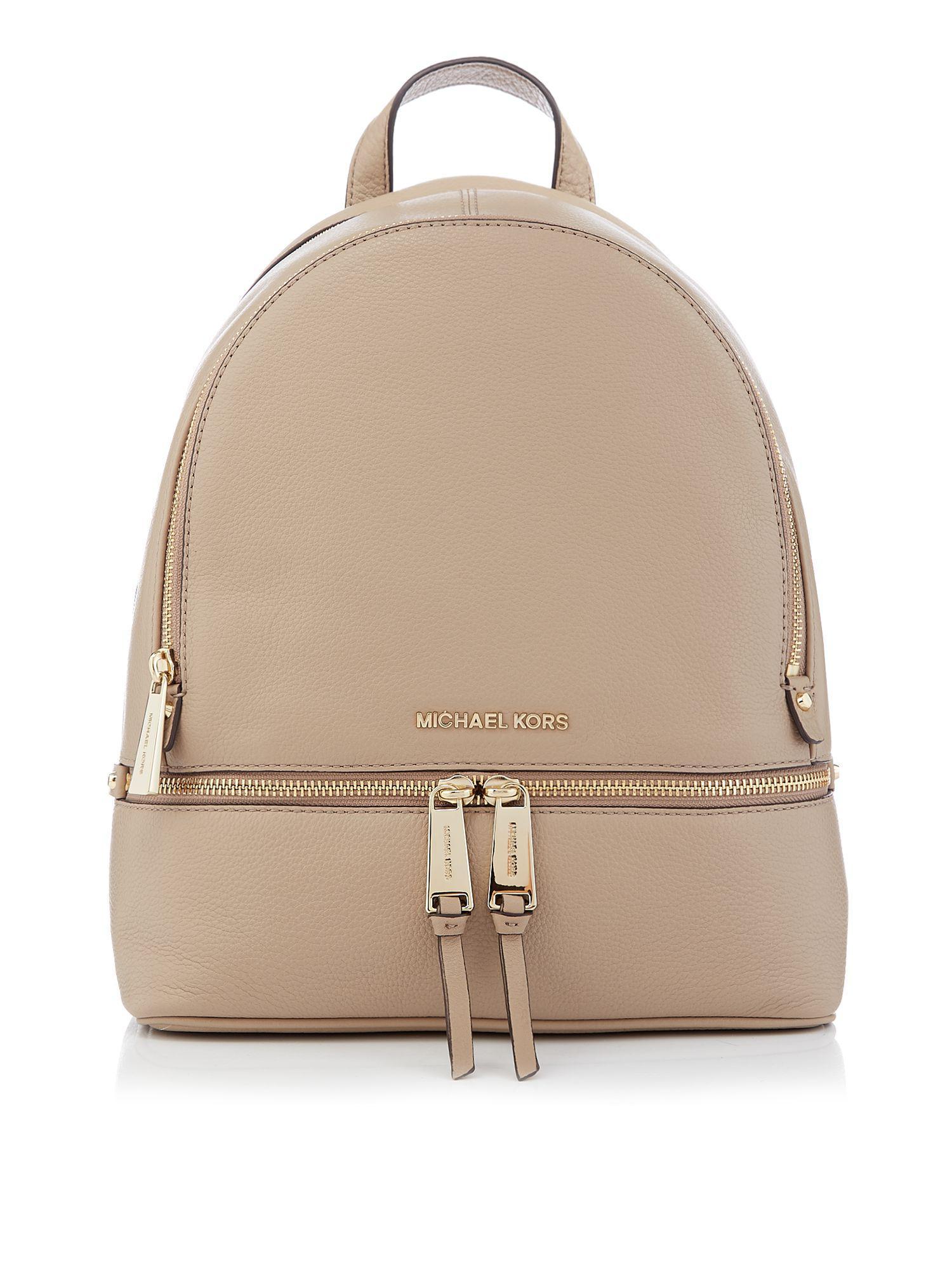 15a32f2c7400f2 Michael Kors - Brown Rhea Zip Medium Backpack - Lyst. View fullscreen