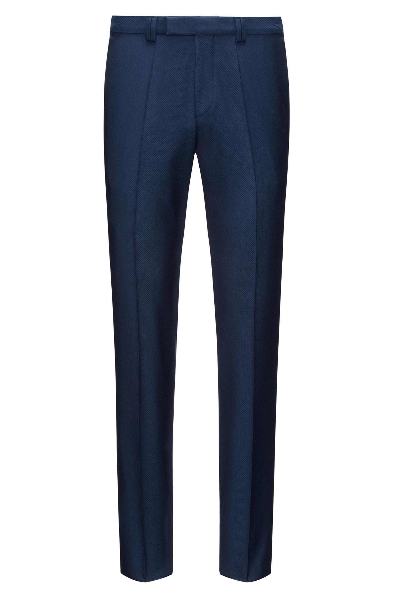 Extra-slim-fit virgin-wool trousers with red detailing HUGO BOSS naZb7