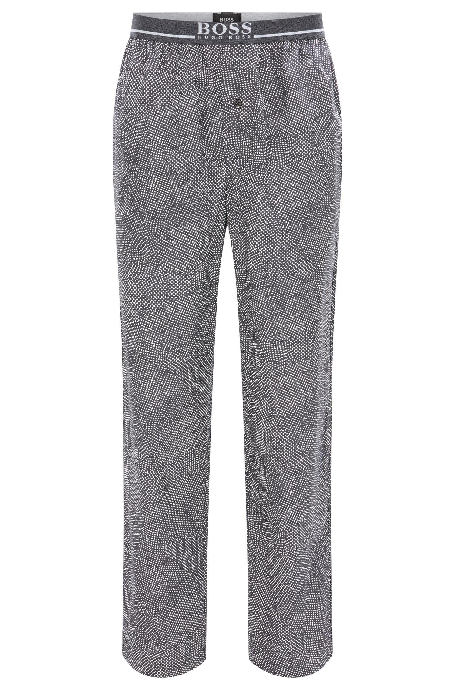 40225655 Boss Pyjama Bottoms In Cotton With Exposed Waistband in Gray for Men ...