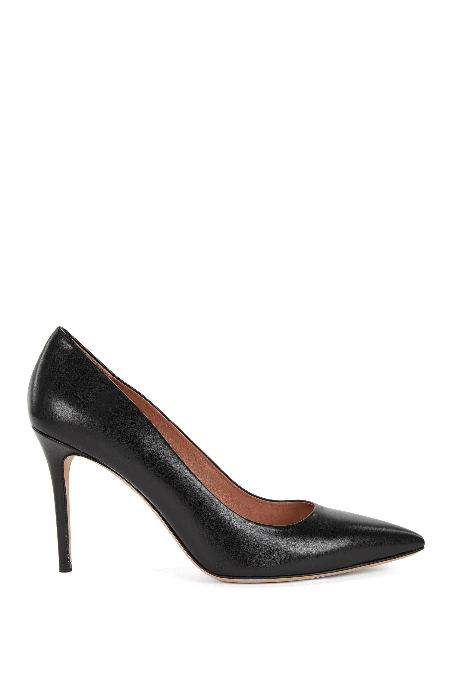 Pointed-toe court shoes in Italian leather HUGO BOSS MTOaUe