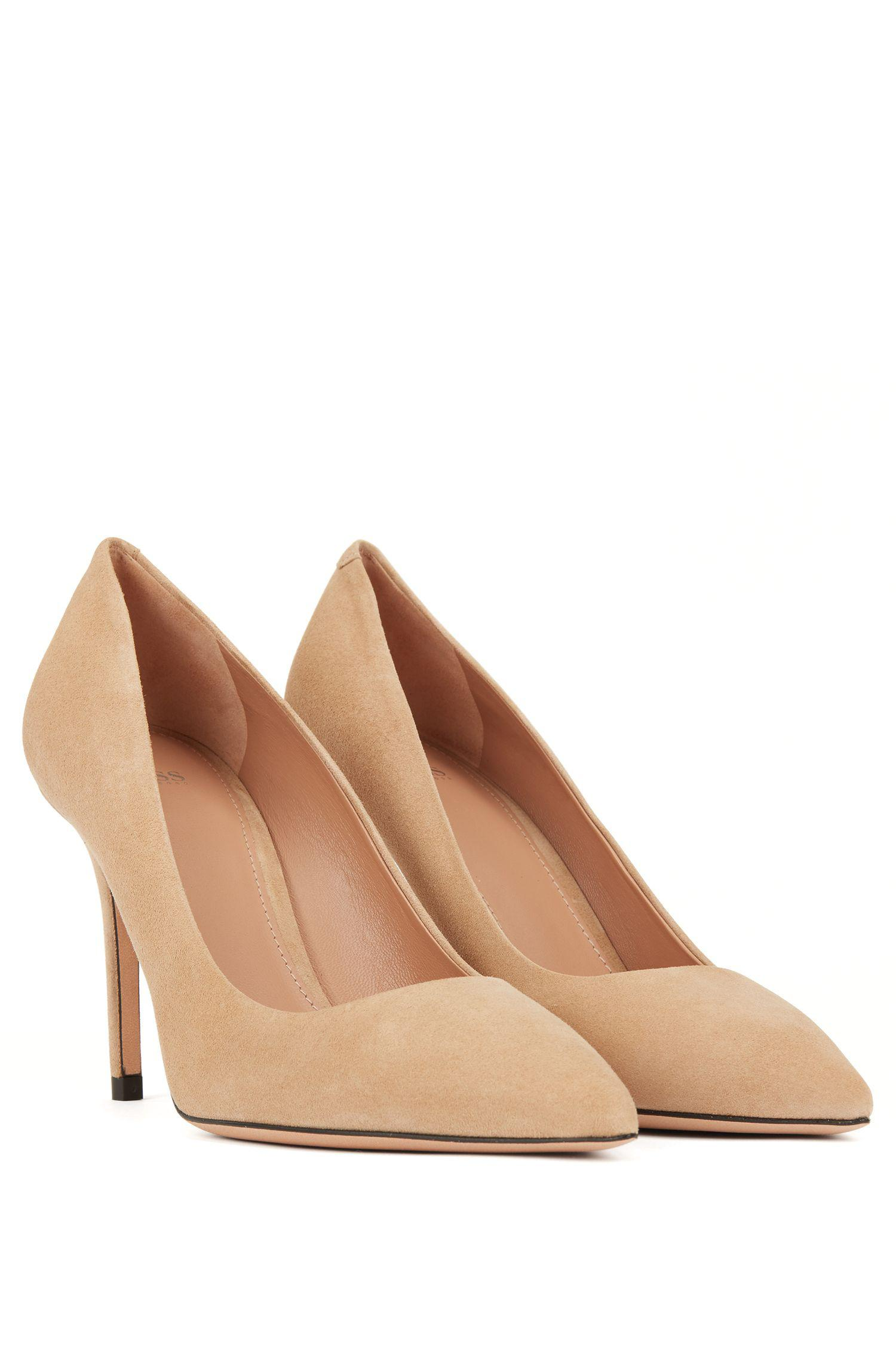 da11840f8fc ... Pointed-toe Court Shoes In Italian Suede - Lyst. View fullscreen