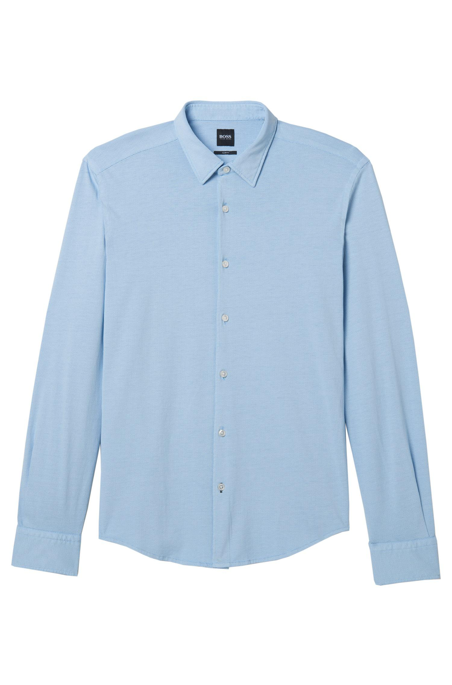 1cf151bb BOSS Cotton Sport Shirt, Slim Fit | Reid F in Blue for Men - Lyst