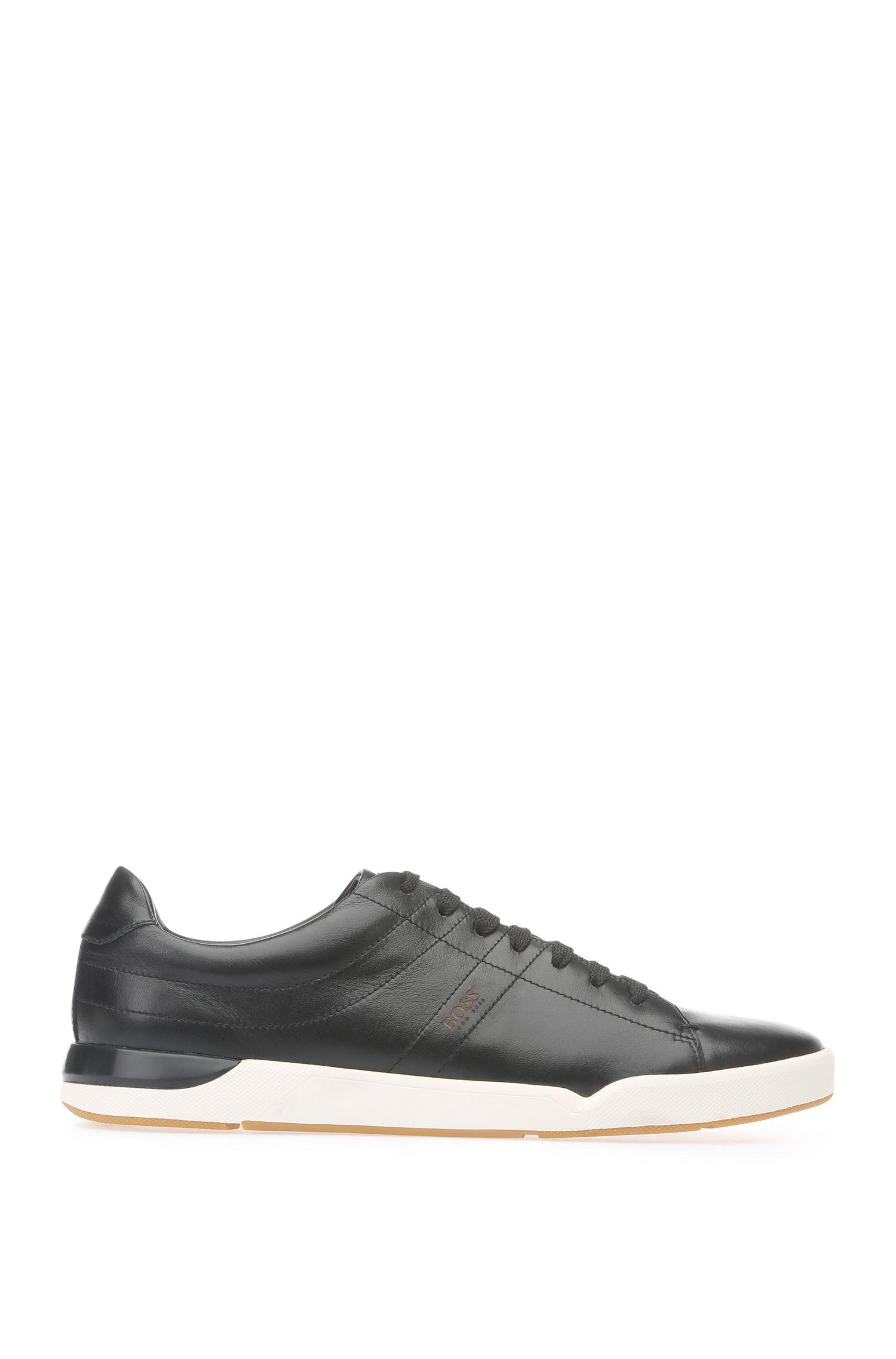 Trainers in smooth leather: Stillnes_Tenn_ltpl BOSS
