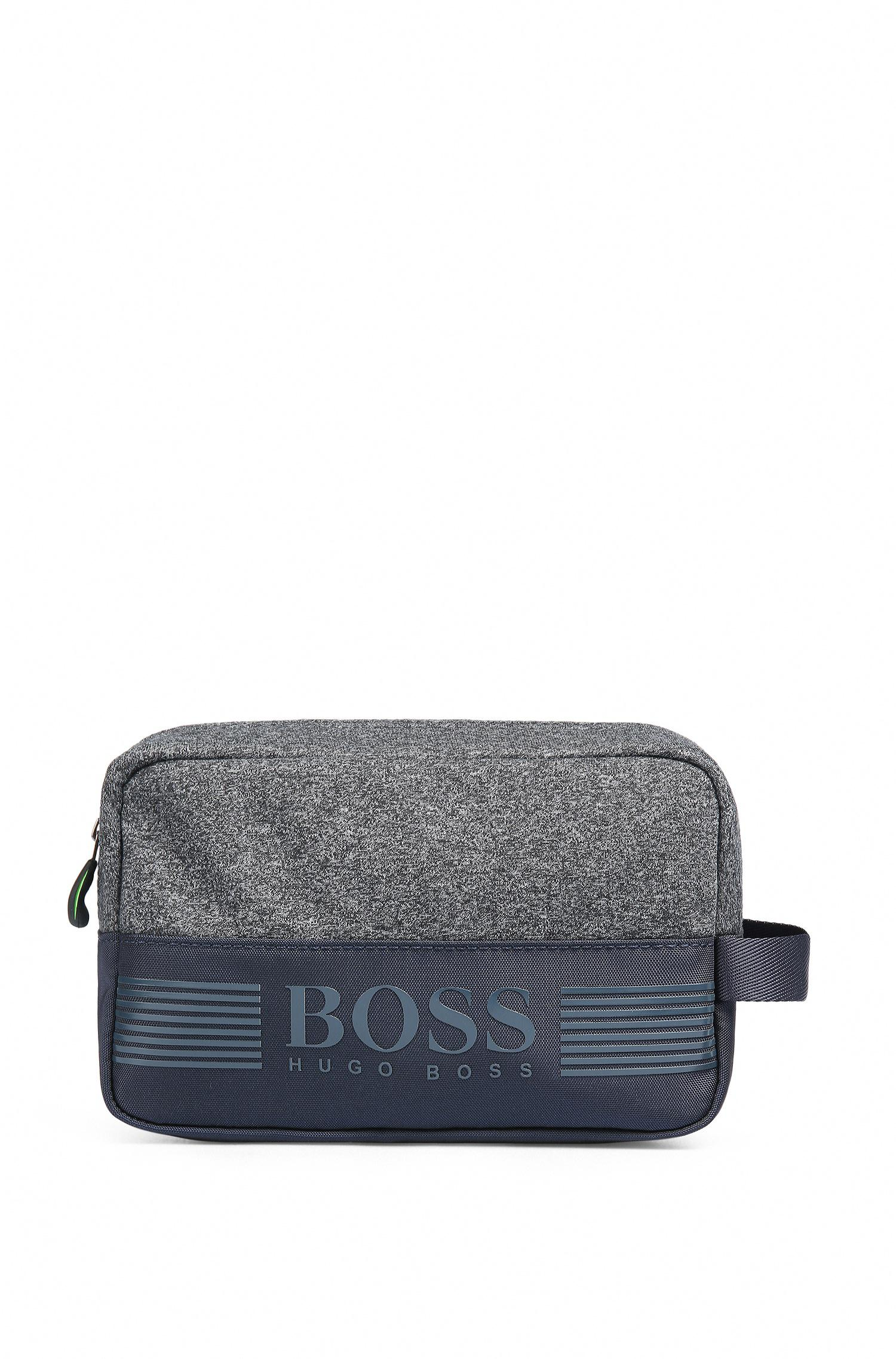 b0a721754cb4 Boss Green Washbag In Jersey And Technical Fabric in Blue for Men - Lyst