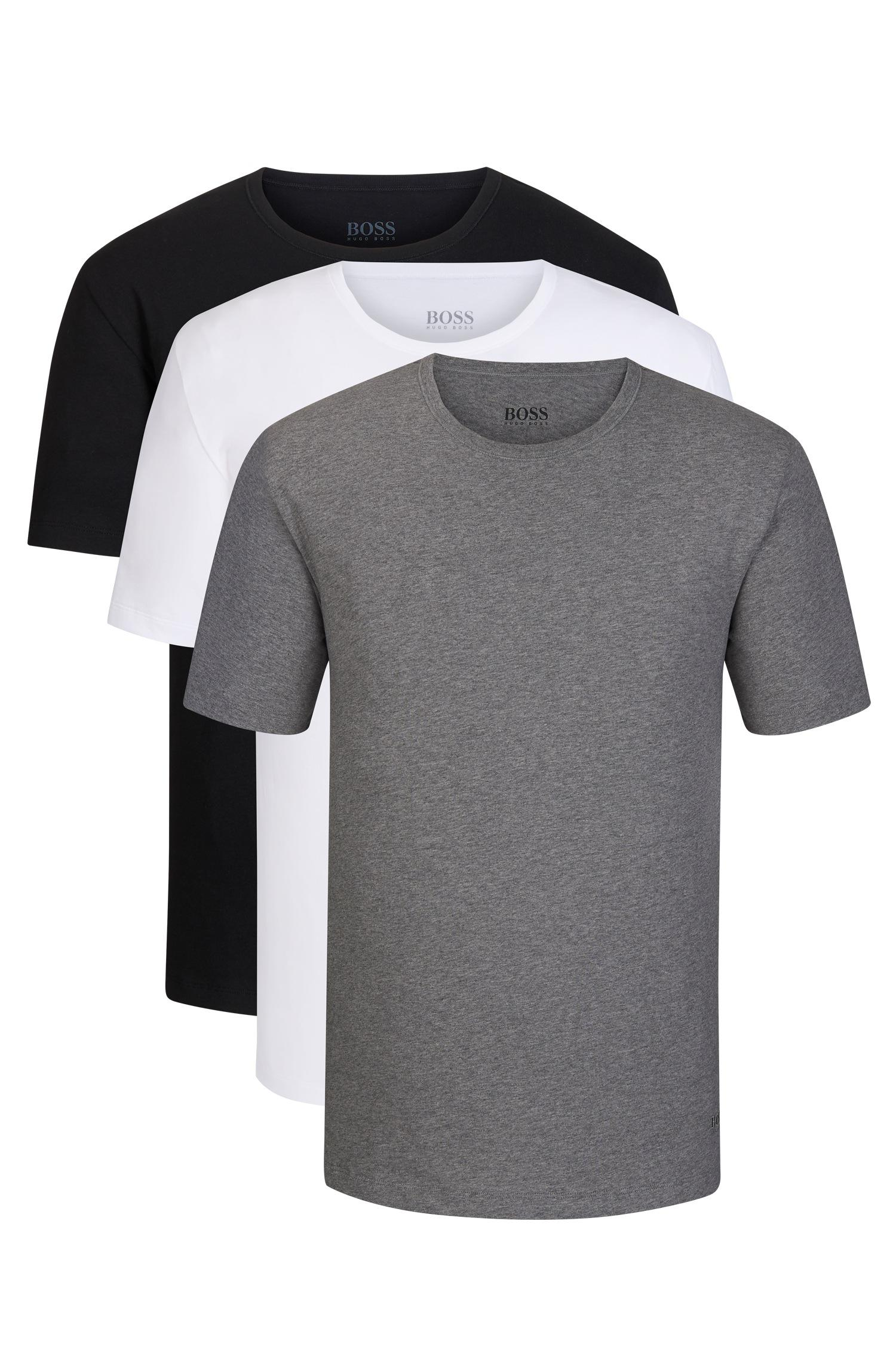 46b06dc1af4 Lyst - BOSS Cotton Jersey T-shirt, 3-pack | T-shirt Rn in Gray for Men