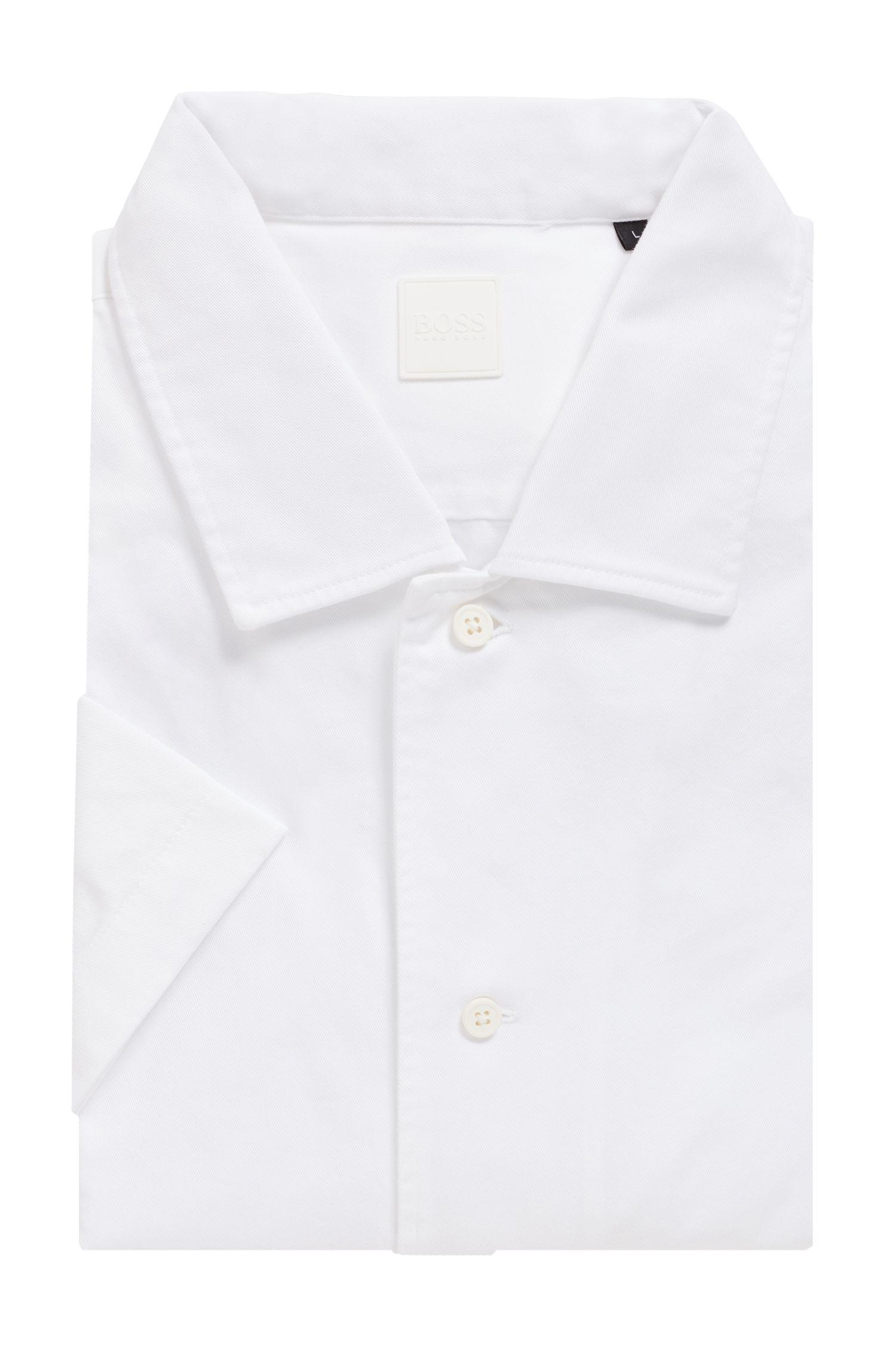 3d04e38d7 BOSS Relaxed-fit Shirt In Heavy Cotton Twill in White for Men - Lyst