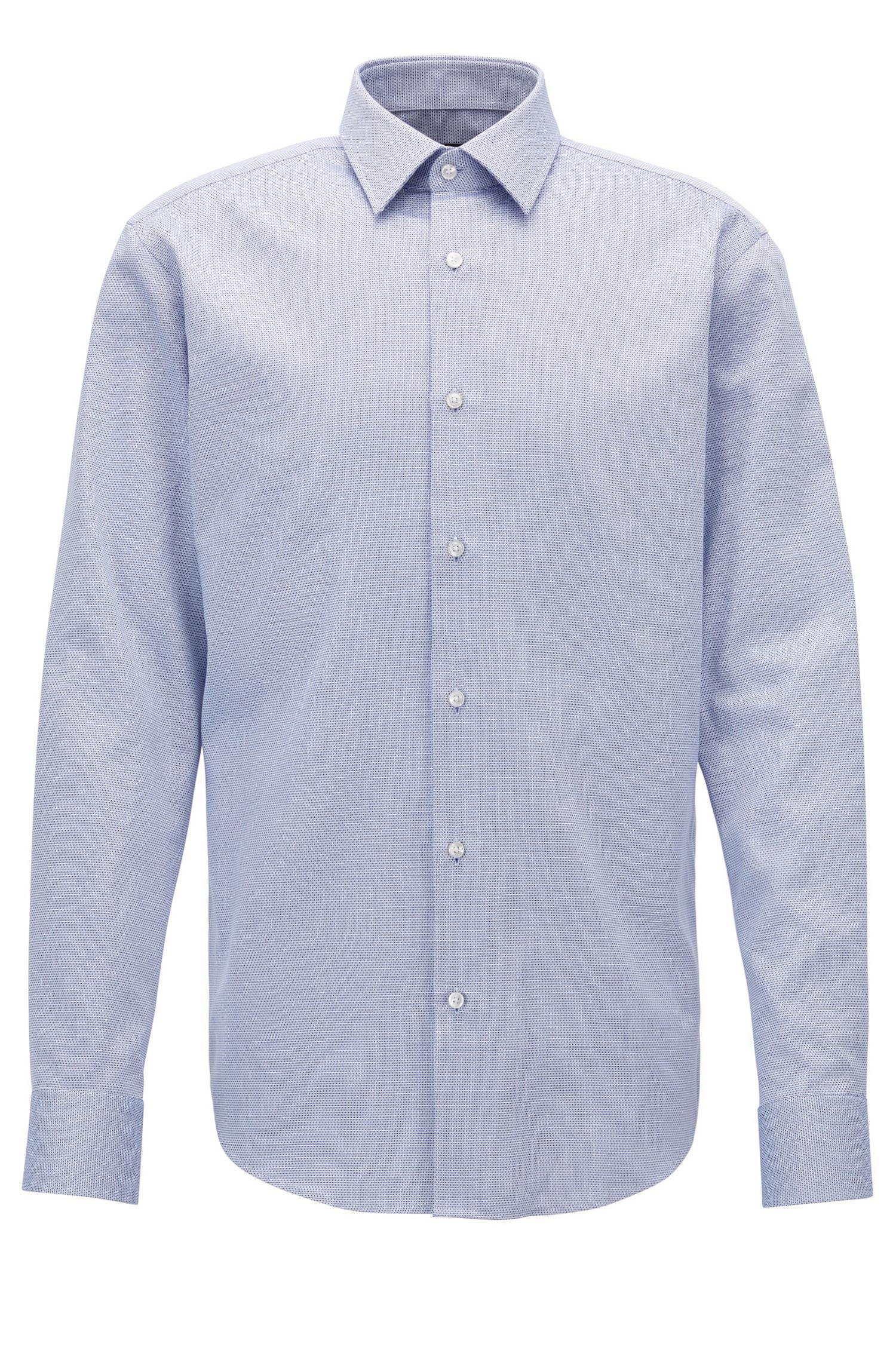 Lyst boss regular fit formal shirt in structured cotton for Hugo boss formal shirts