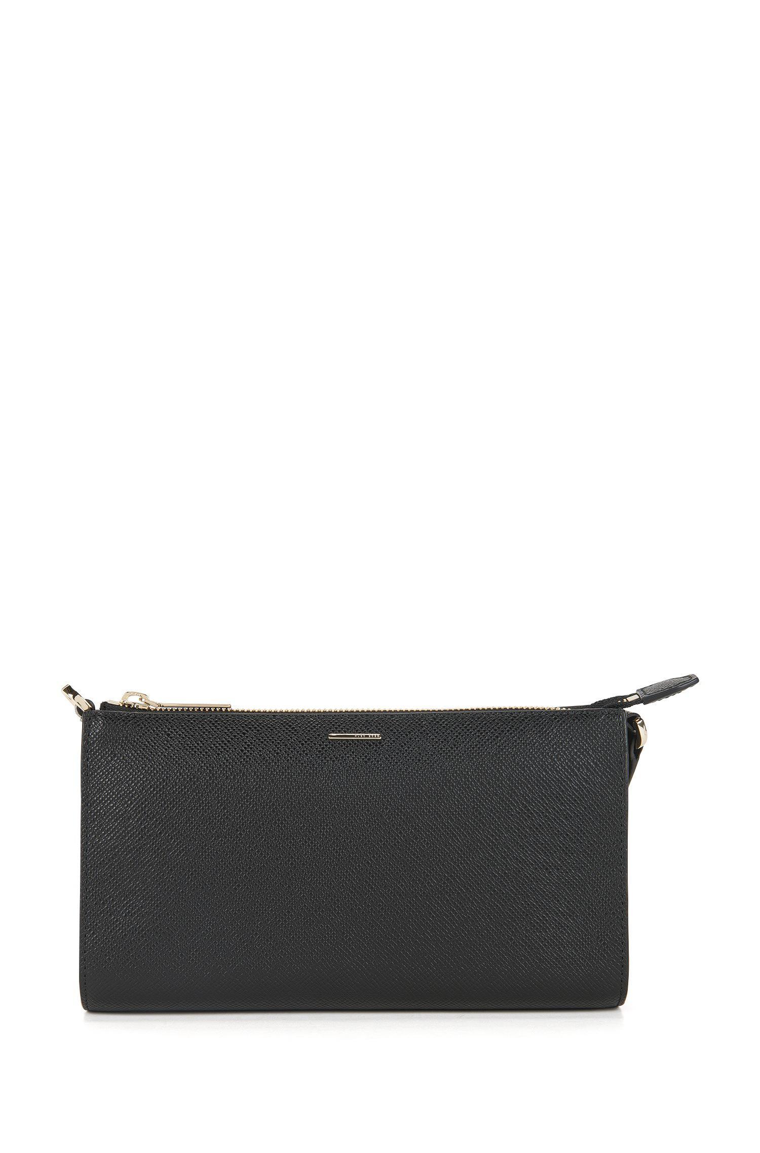 55d1a73be7c BOSS Calfskin Emed Clutch | Staple Mini Bag Fpb in Black - Lyst