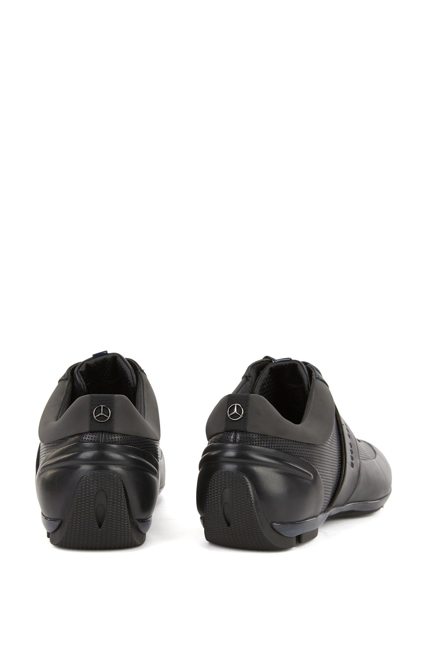 46fe8edb37 BOSS Leather Sneaker   Sporty Lowp Mbpr in Blue for Men - Lyst
