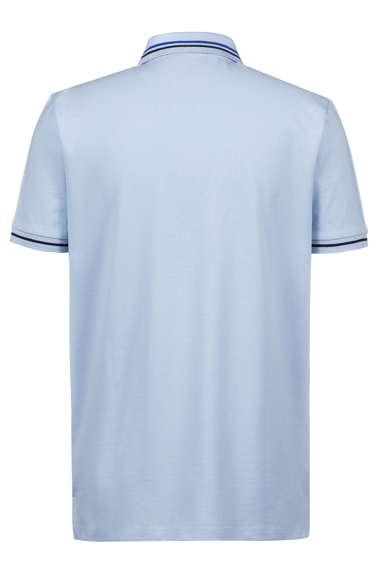 898c5f6b HUGO Regular-fit Polo Shirt In Cotton With Contrast Stripes in Blue ...