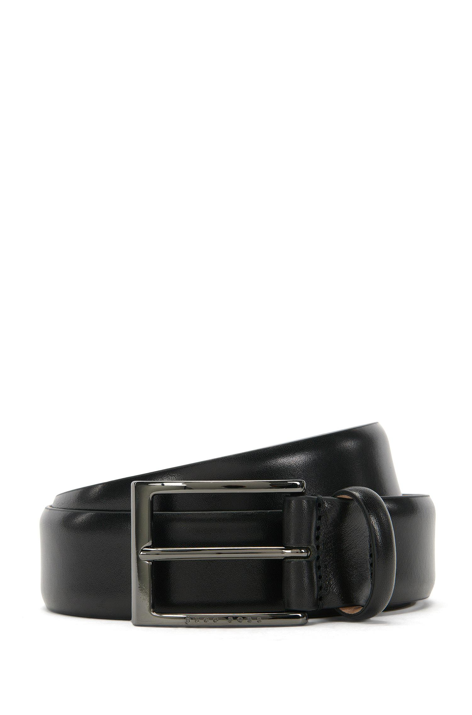 Italian-made belt in smooth calf leather BOSS Bx2bTsohw9