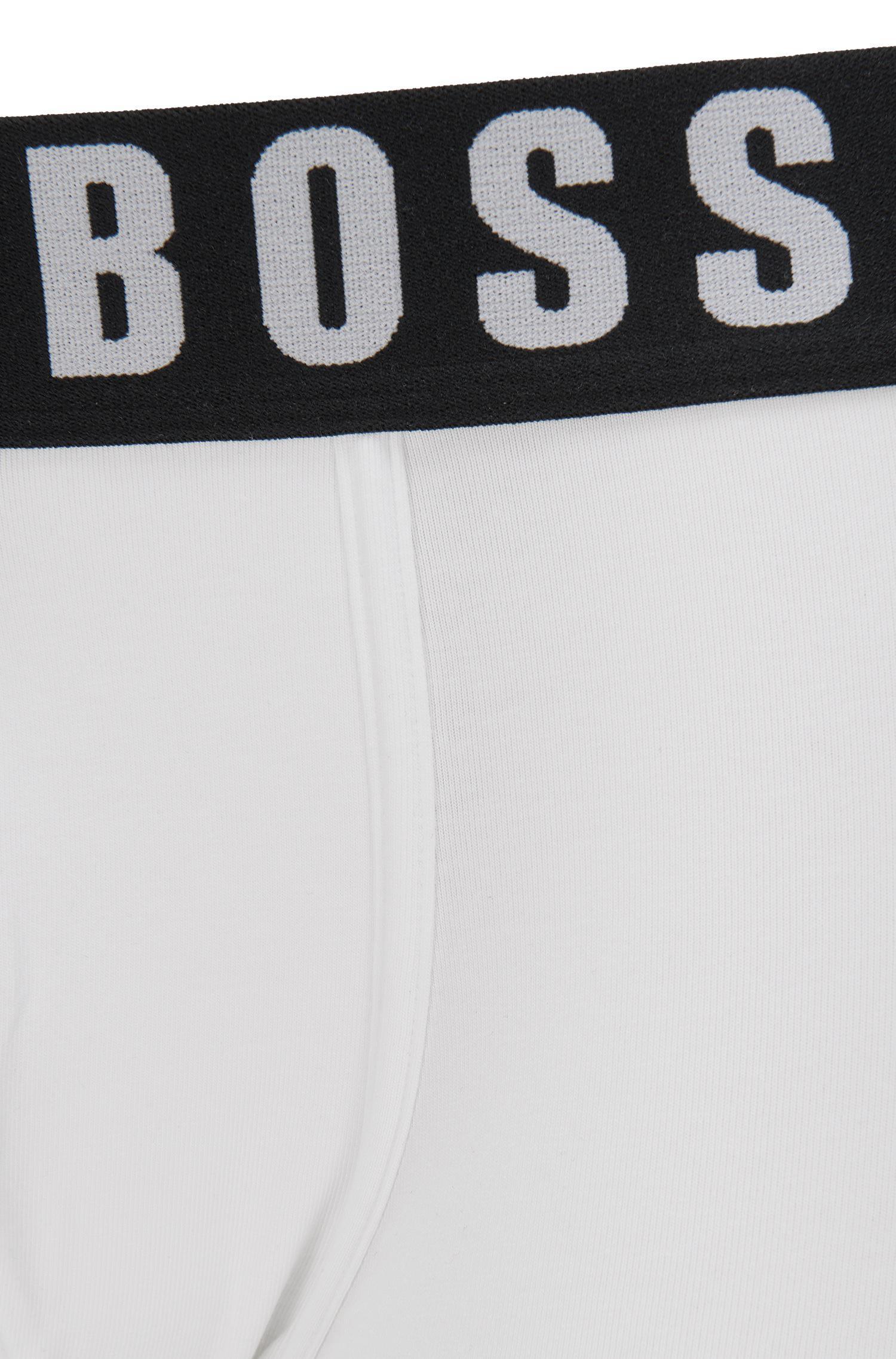 c53590fefb4 Lyst - BOSS Stretch Cotton Modal Logo Trunk