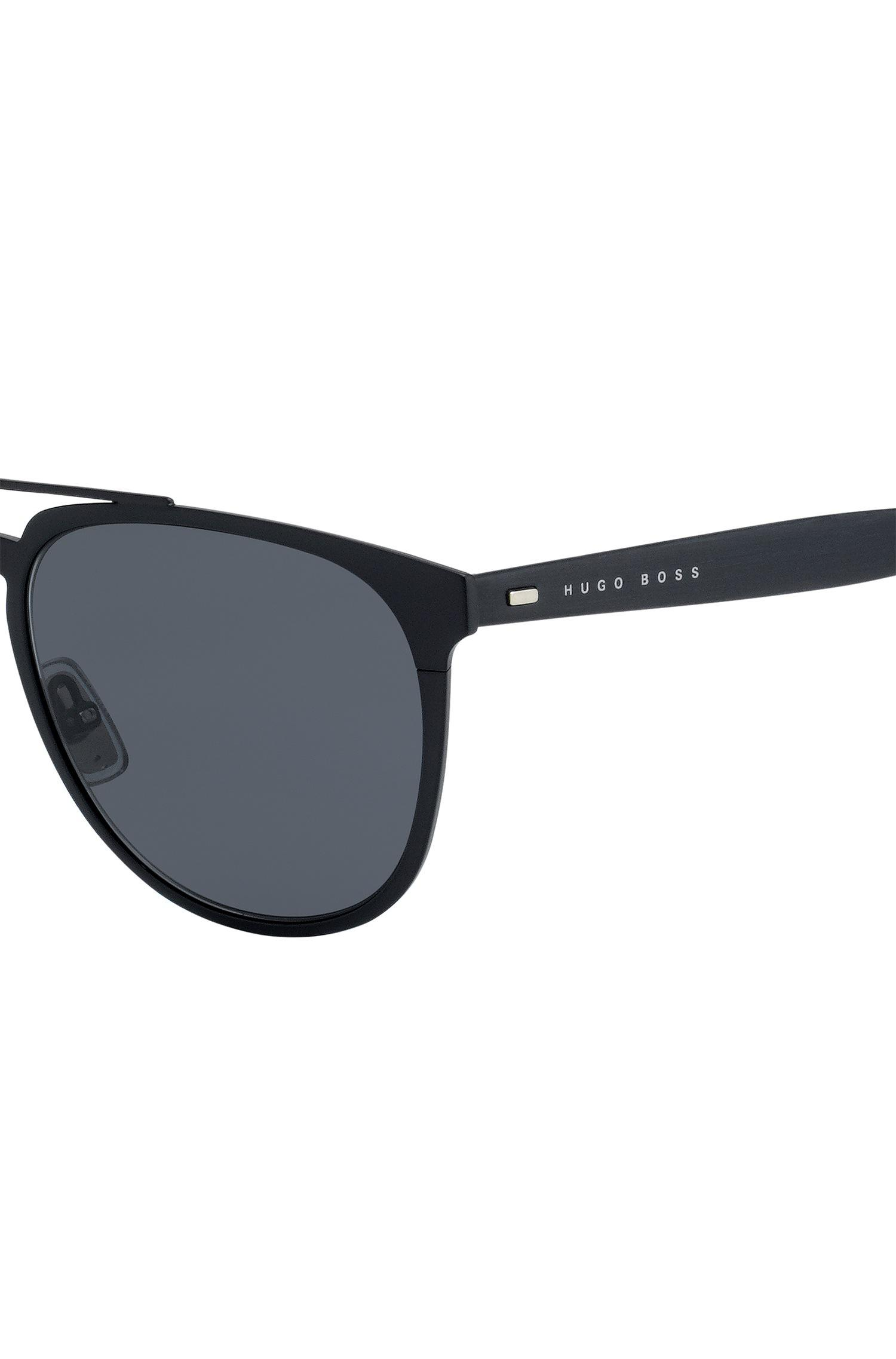 Boss Aviator Sunglasses With Thin Black Metallic Frames in Black for ...