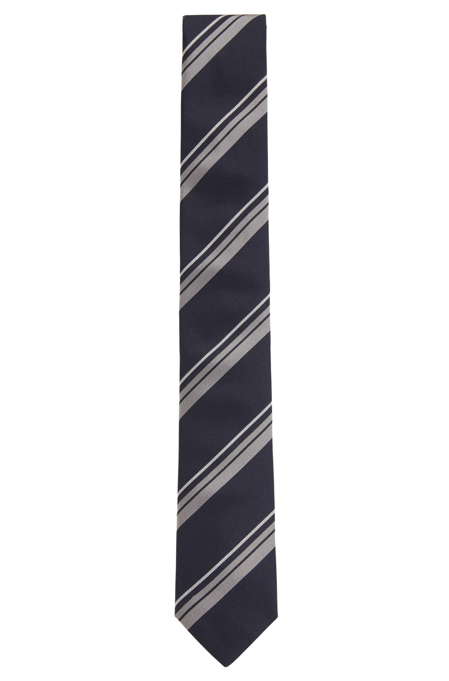 Asymmetrical striped tie in silk jacquard BOSS wnd8G5E