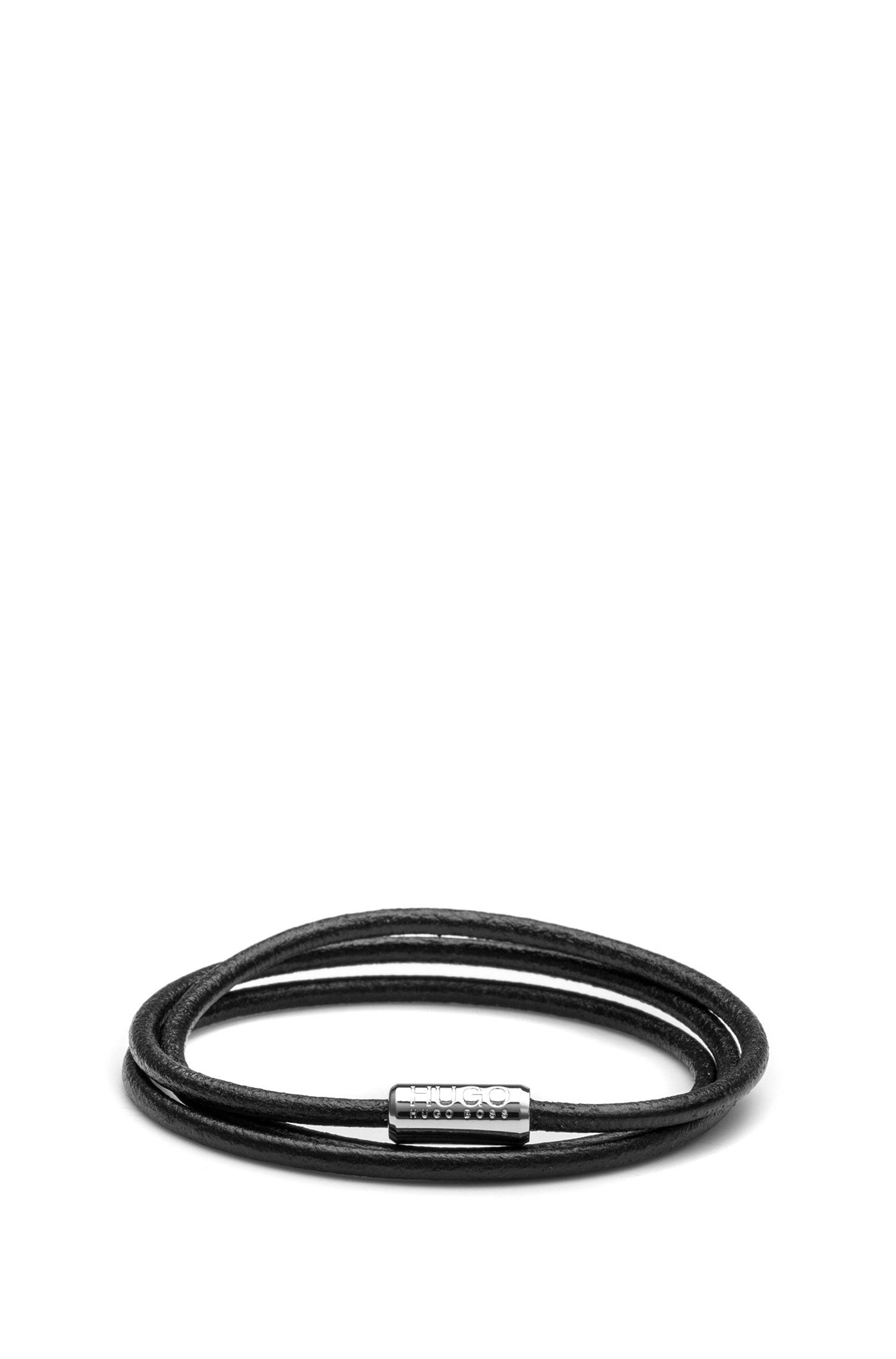 Lyst Hugo Italian Leather Cord Bracelet With Magnetic