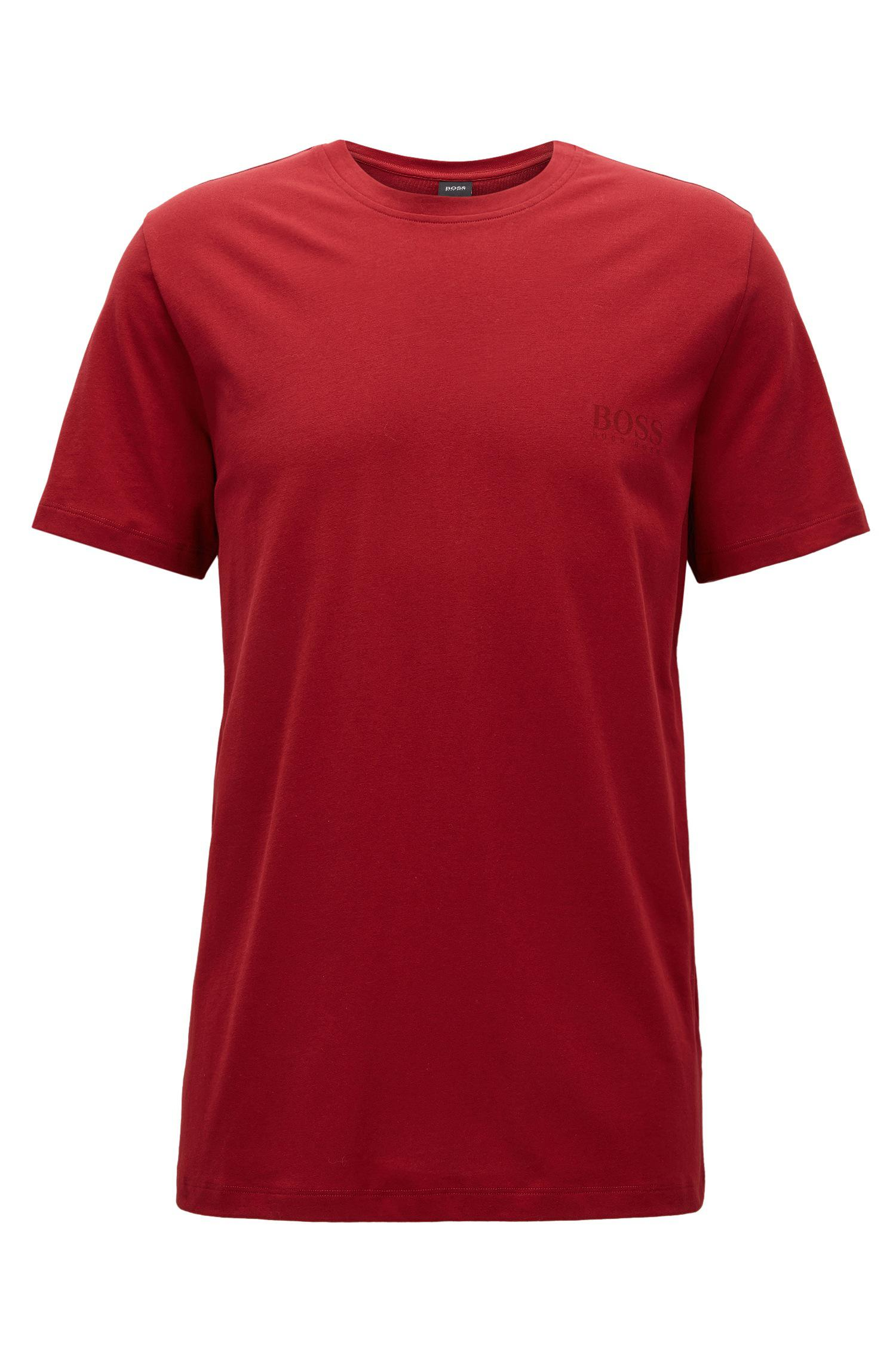 Lyst boss relaxed fit t shirt in soft cotton in red for men for Soft cotton dress shirts