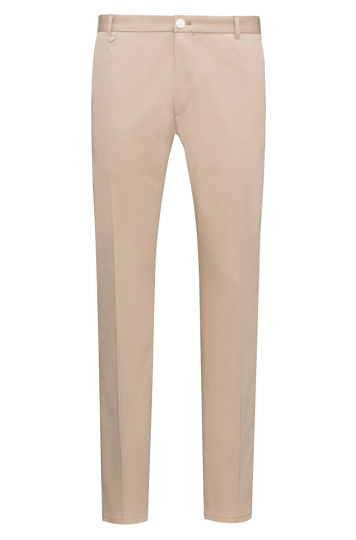 Extra-slim-fit trousers in pima cotton HUGO BOSS YQuI7Kp5Z