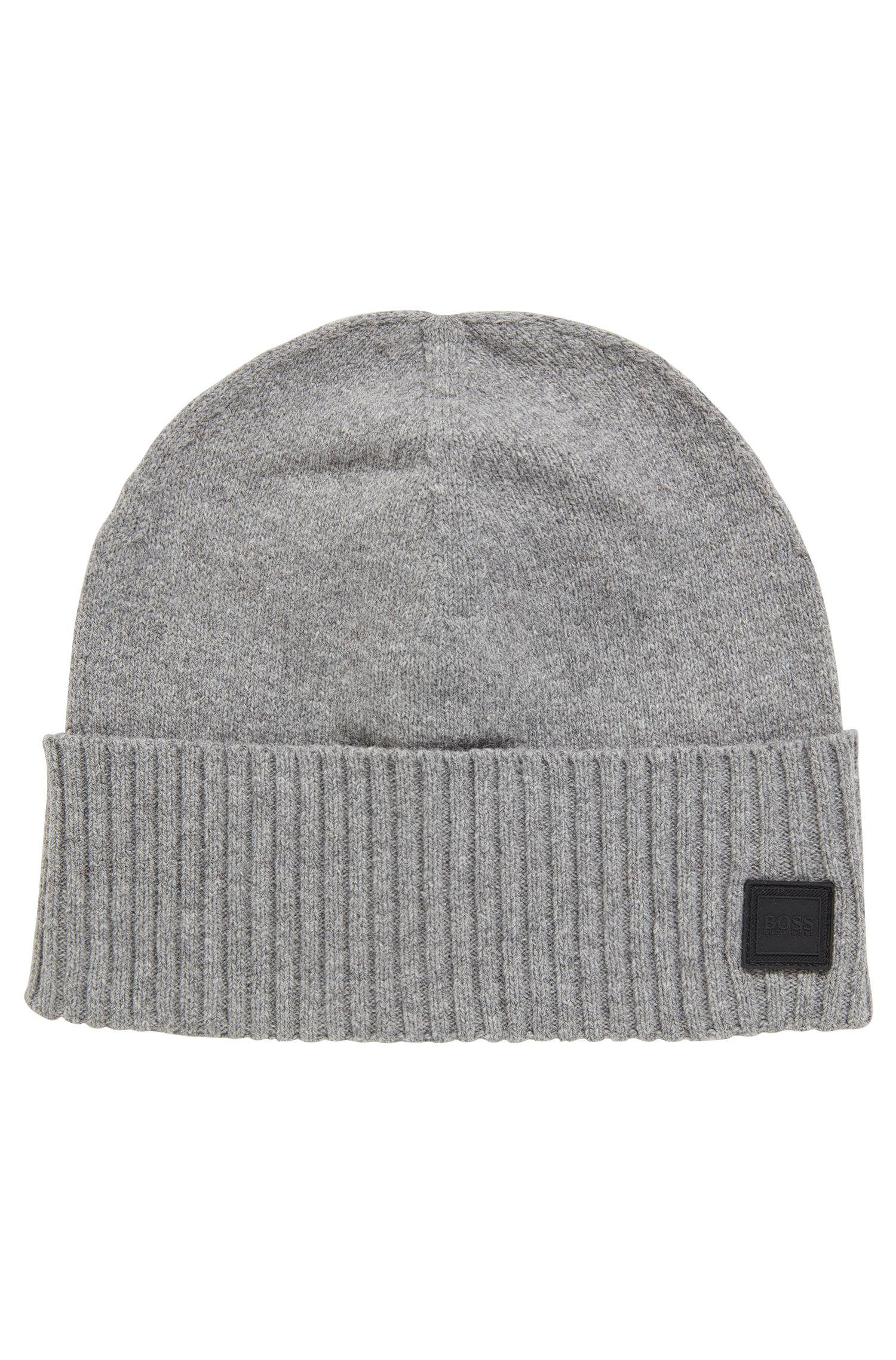 e222e105178 Boss Beanie Hat With Turnback Ribbed Hem in Gray for Men - Lyst