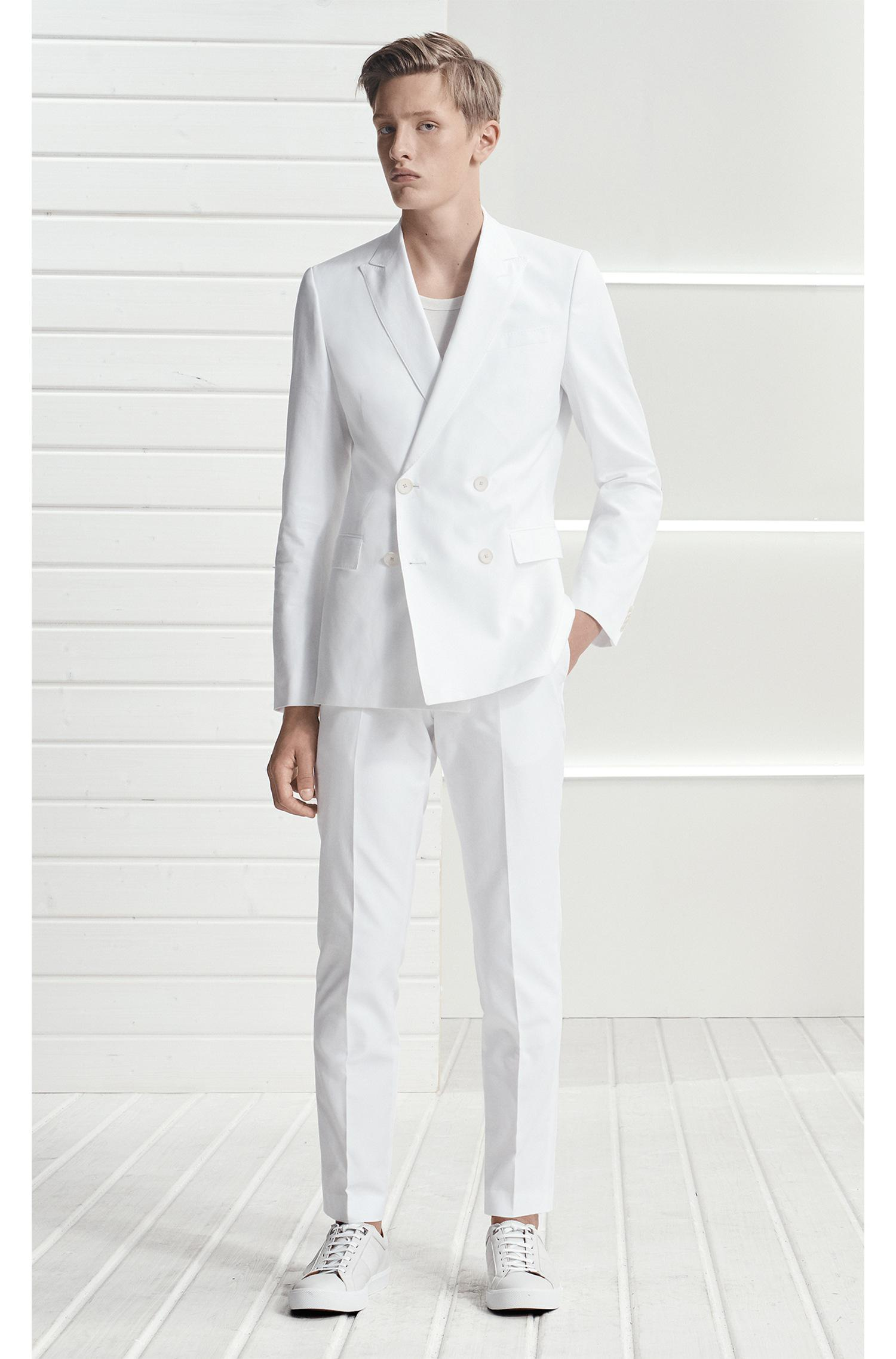 dbd72569 BOSS Italian Cotton Double-breasted Suit, Slim Fit | Nami/ben in ...