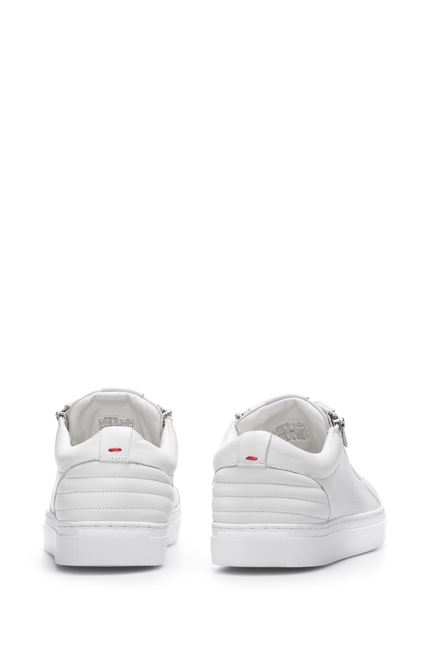 Tennis-style trainers in nappa lambskin with quilting details HUGO BOSS BJDfrF6DZE