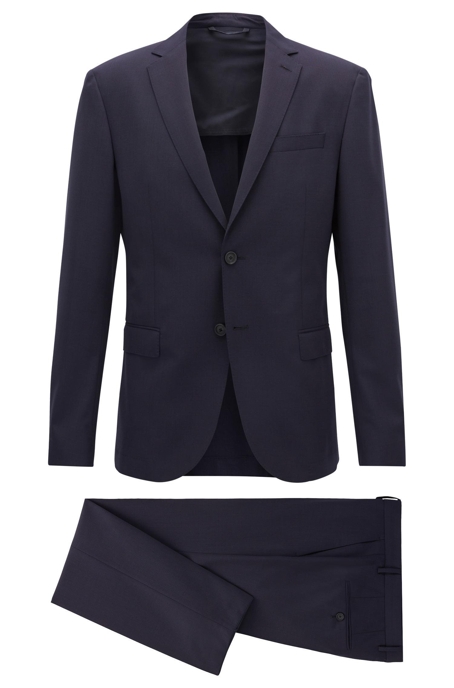 lyst boss slim fit suit in stretch virgin wool in blue for men. Black Bedroom Furniture Sets. Home Design Ideas