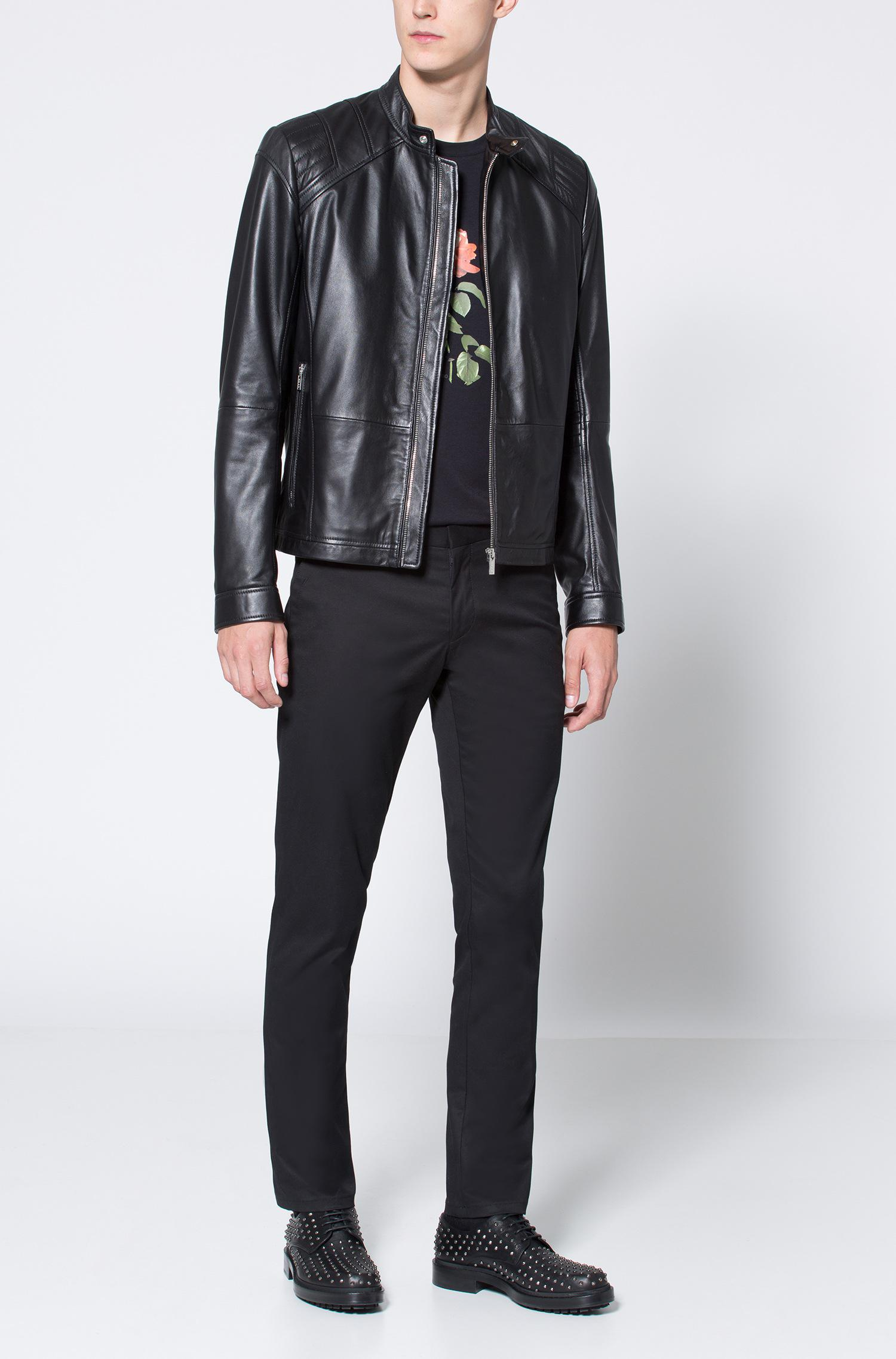 cc0ef5afa80 ... Leather Jacket In A Slim Fit for Men - Lyst. View fullscreen