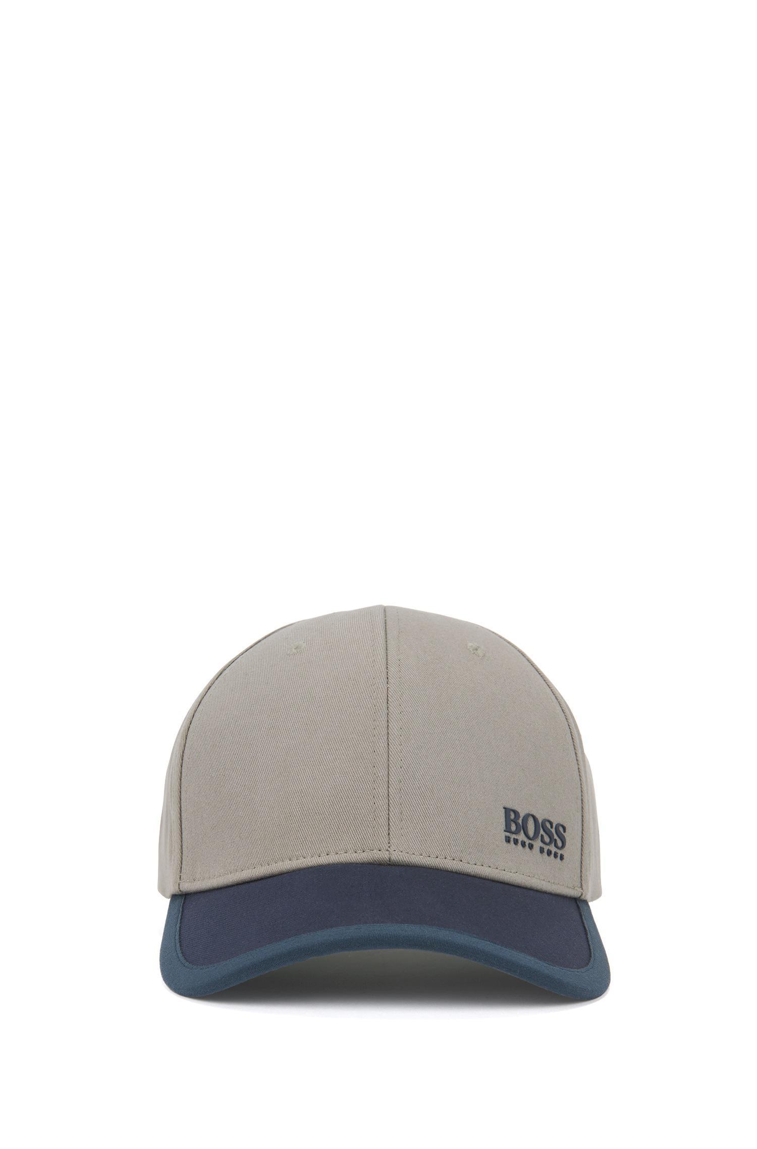51b796de6be Boss Colour-block Baseball Cap In Cotton Twill in Natural for Men - Lyst