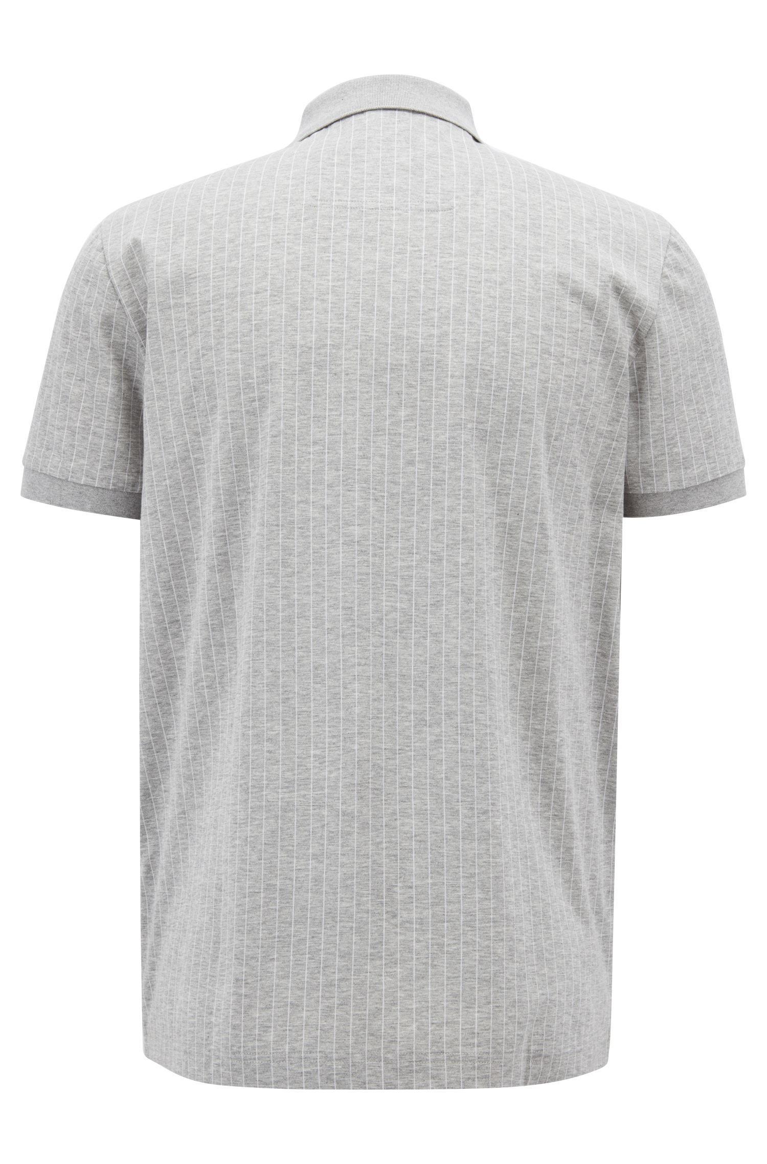 09b6b4ef Lyst - BOSS Regular-fit Pinstripe Polo Shirt In Mercerized Cotton in ...